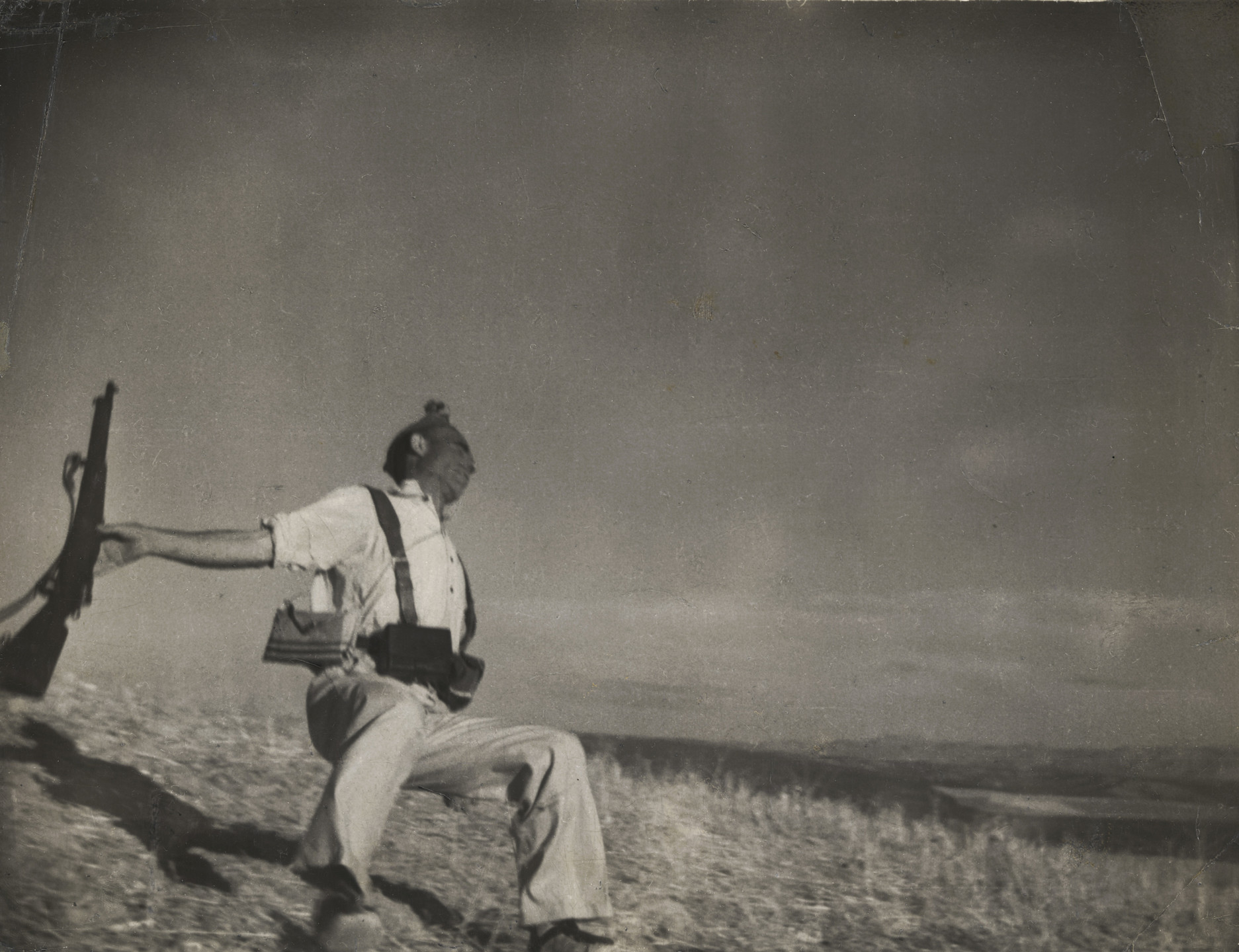 Robert Capa. Death of a Loyalist Militiaman, Córdoba front, Spain. Late August-early September, 1936