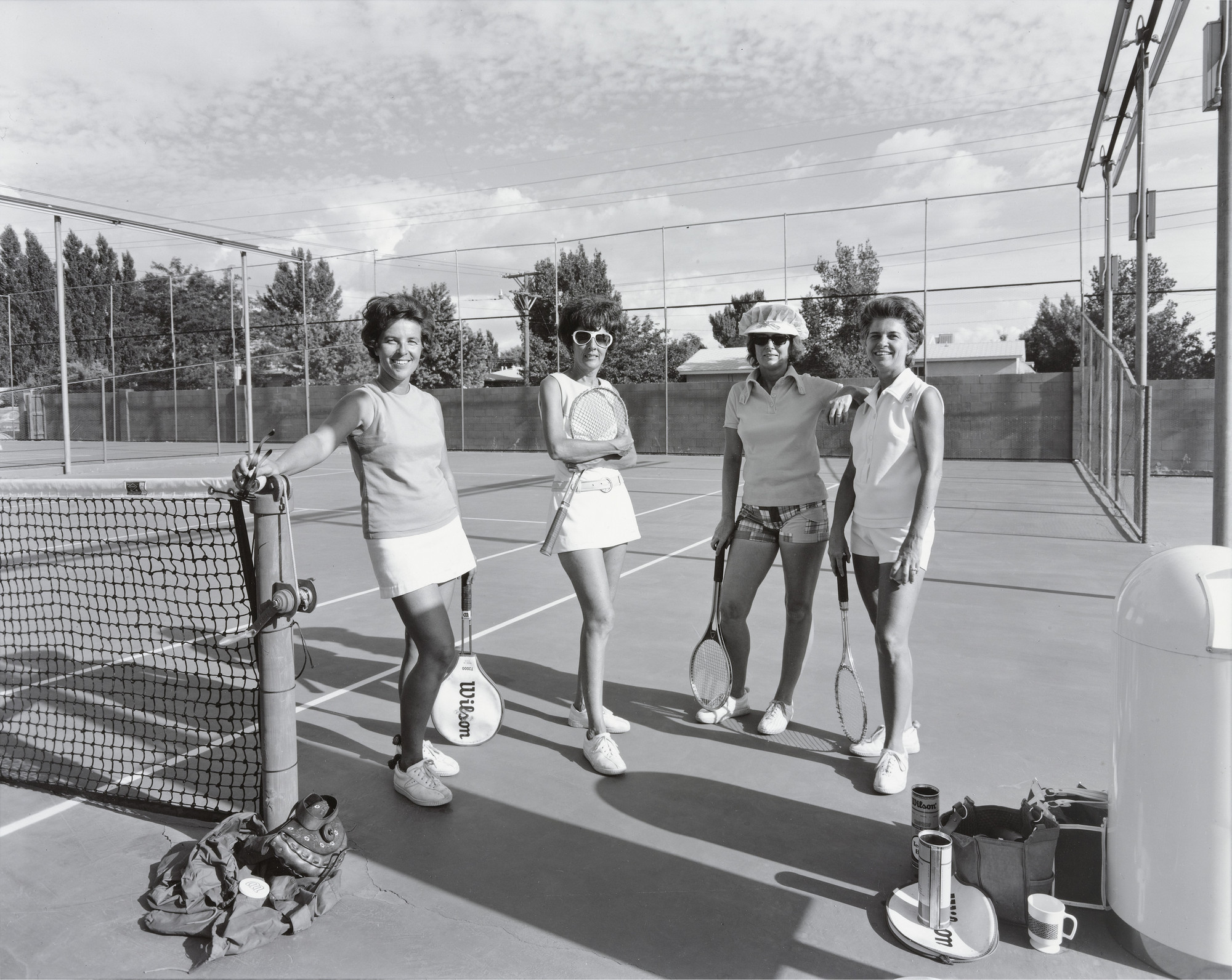 Nicholas Nixon. Mrs. Nancy Wheeler, Mrs. Becky Norman, Mrs. Jenny Bull, Mrs. Bobby Maguire, Tennis Club of Albuquerque. August 1973