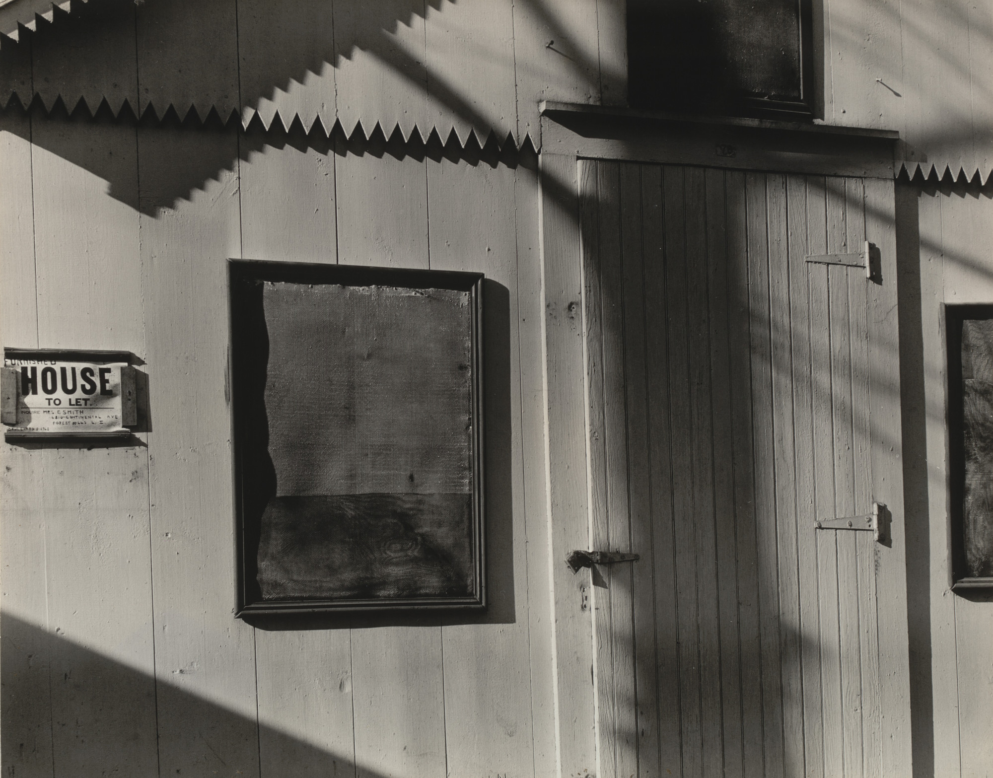 Walker Evans. Detail of a Cottage at Ossining Camp Woods, New York. 1930