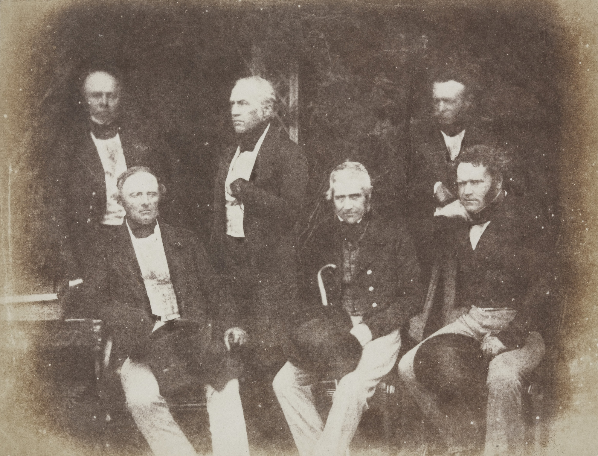 David Octavius Hill, Robert Adamson. John Gersdorp, King of Saxony, Unknown Man, The Earl of Morton, Wyndam Anstruther and Sir Ralph Anstruther. 1844