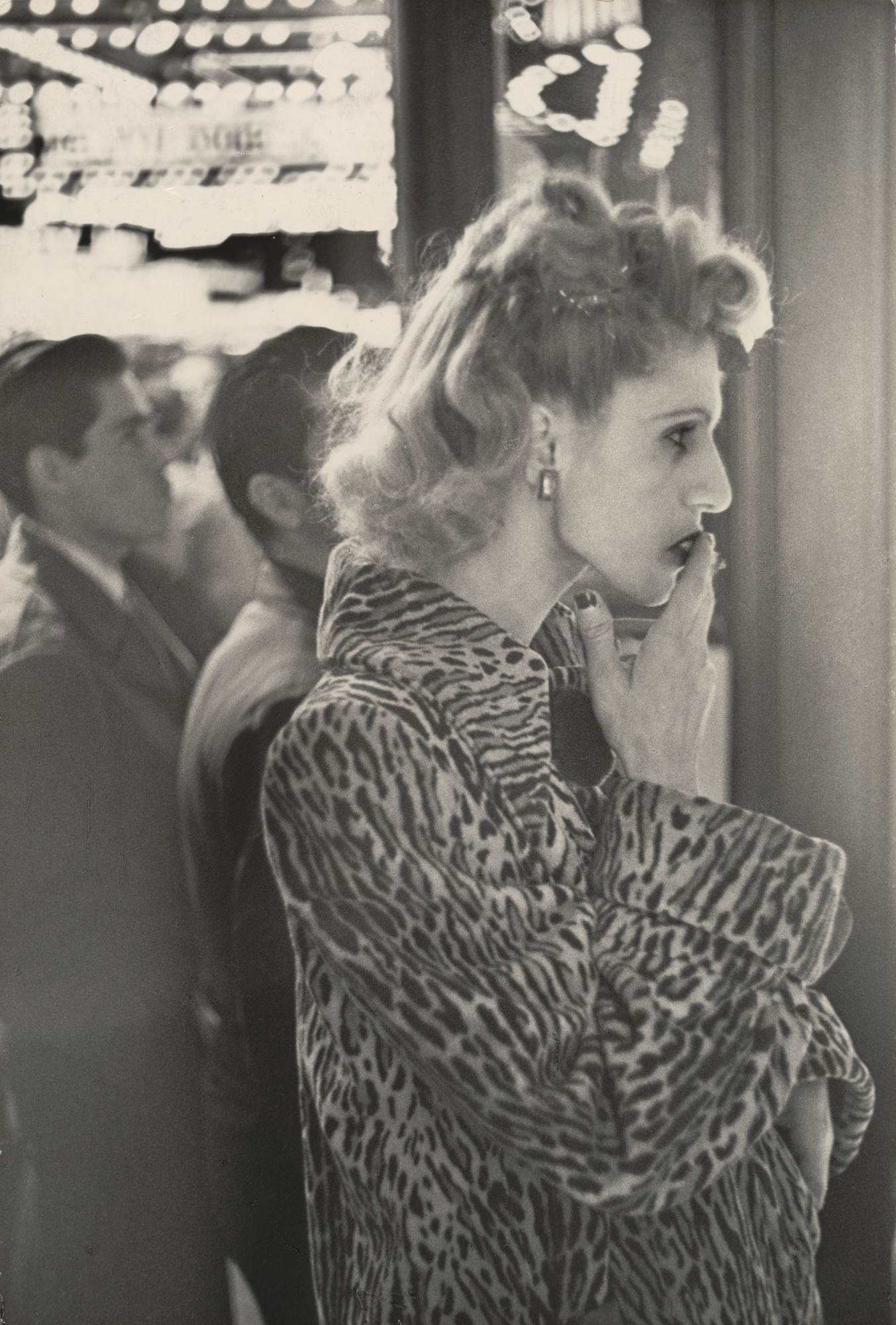 Louis Faurer. Untitled (Woman In Leopard Coat). 1948