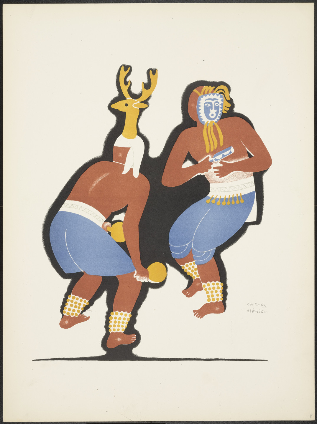 Carlos Mérida. The Pascola and the Deer from Dances of Mexico. c. 1937