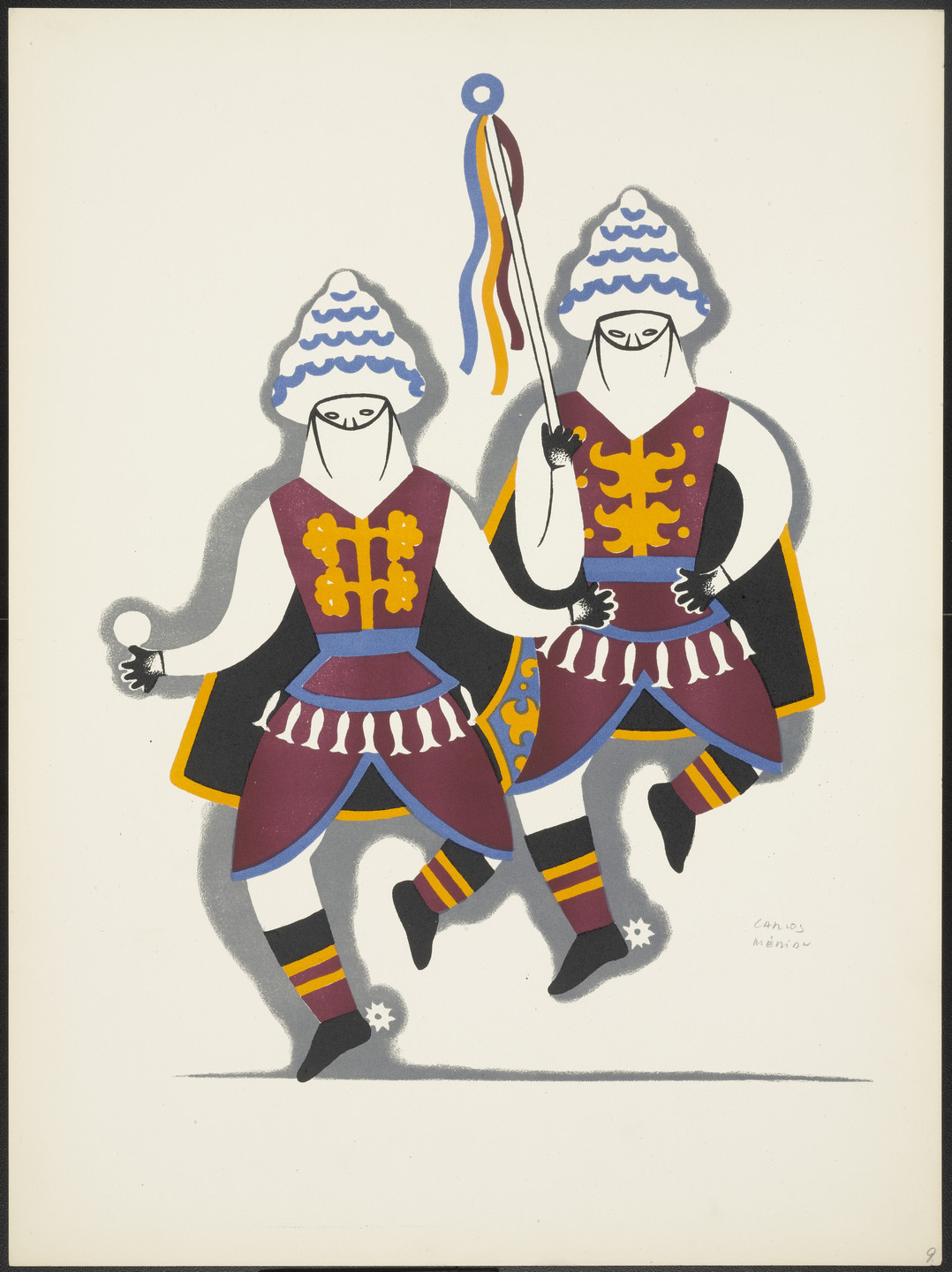 Carlos Mérida. Dance of the Moors from Dances of Mexico. c. 1937