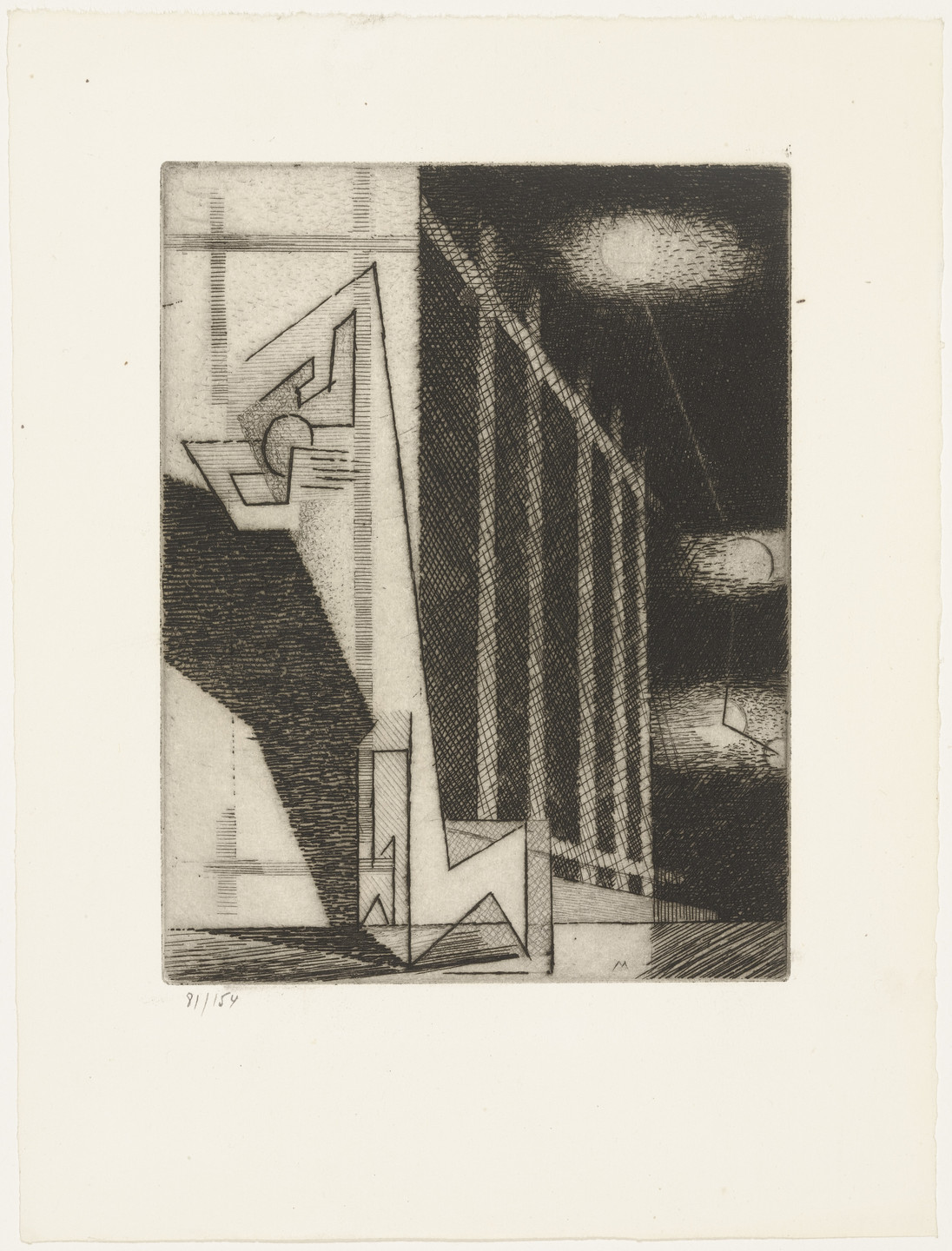 Louis Marcoussis. Several Moons (Plusiers lunes) from Ten Etchings for Aurélia (10 Eaux-fortes pour Aurélia) by Gérard de Nerval. 1931