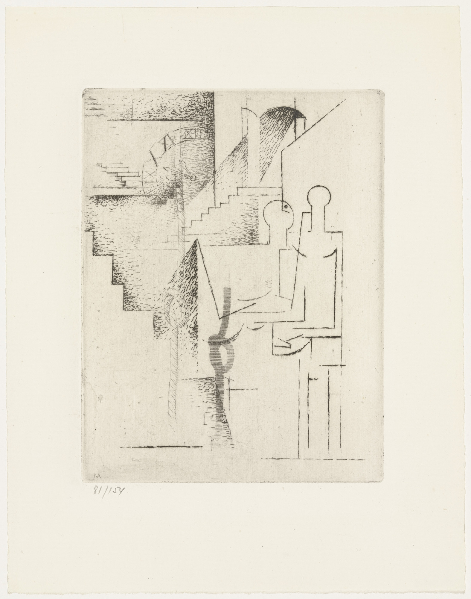 Louis Marcoussis. Insane Asylum (Asile des fous) from Ten Etchings for Aurélia (10 Eaux-fortes pour Aurélia) by Gérard de Nerval. 1931