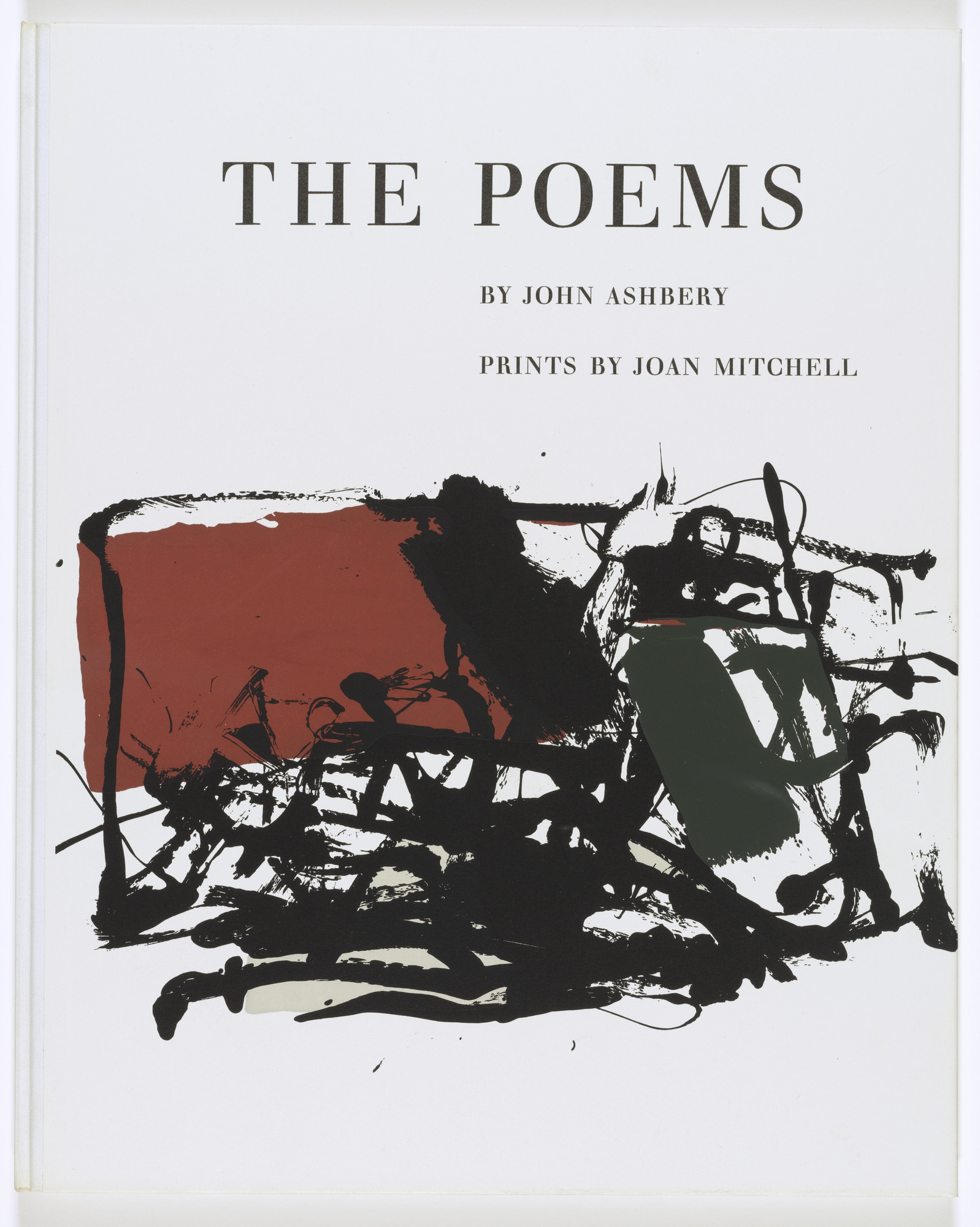 Joan Mitchell. Cover from The Poems. 1960