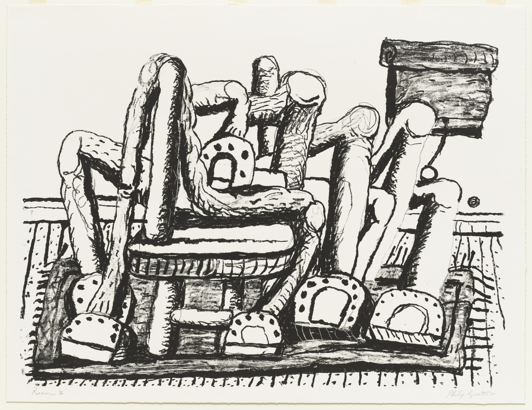 Philip Guston. Room. 1980