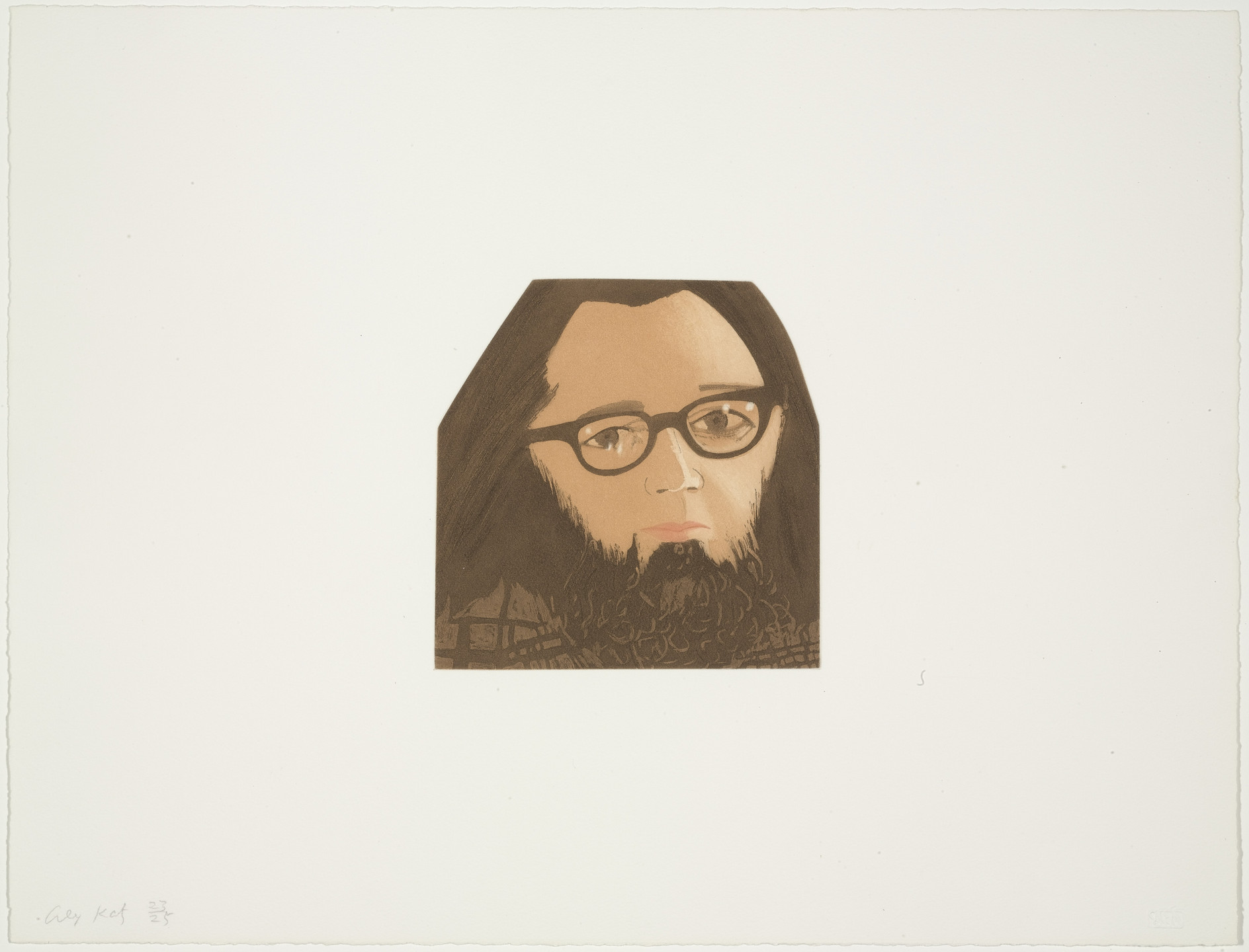 Alex Katz. Ted Berrigan from Face of the Poet. 1978