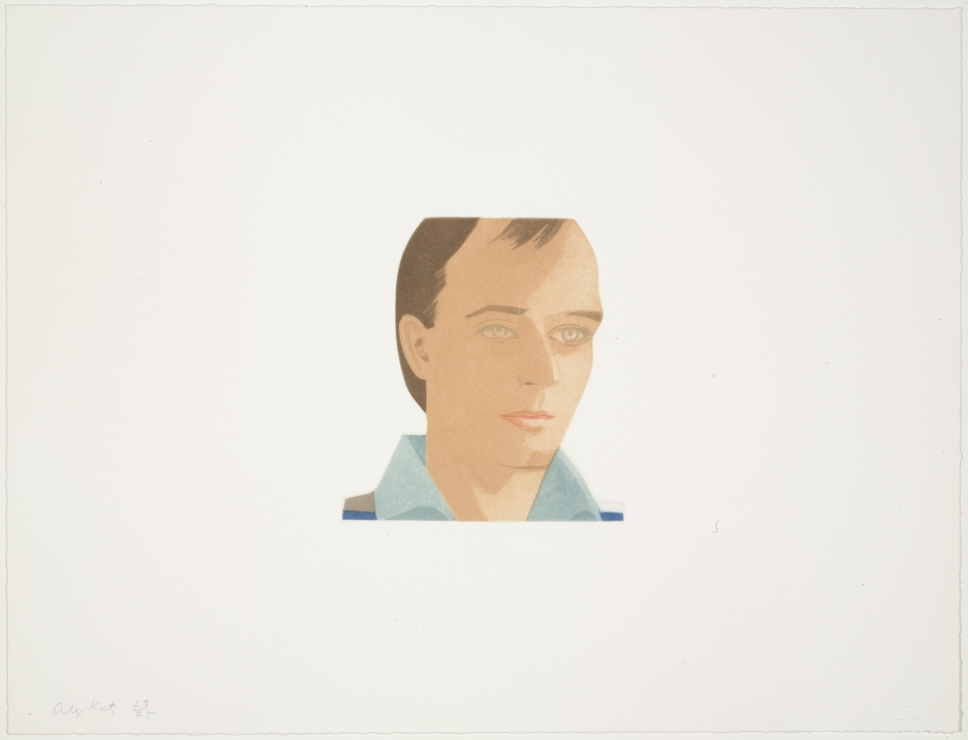 Alex Katz. Rene Ricard from Face of the Poet. 1978