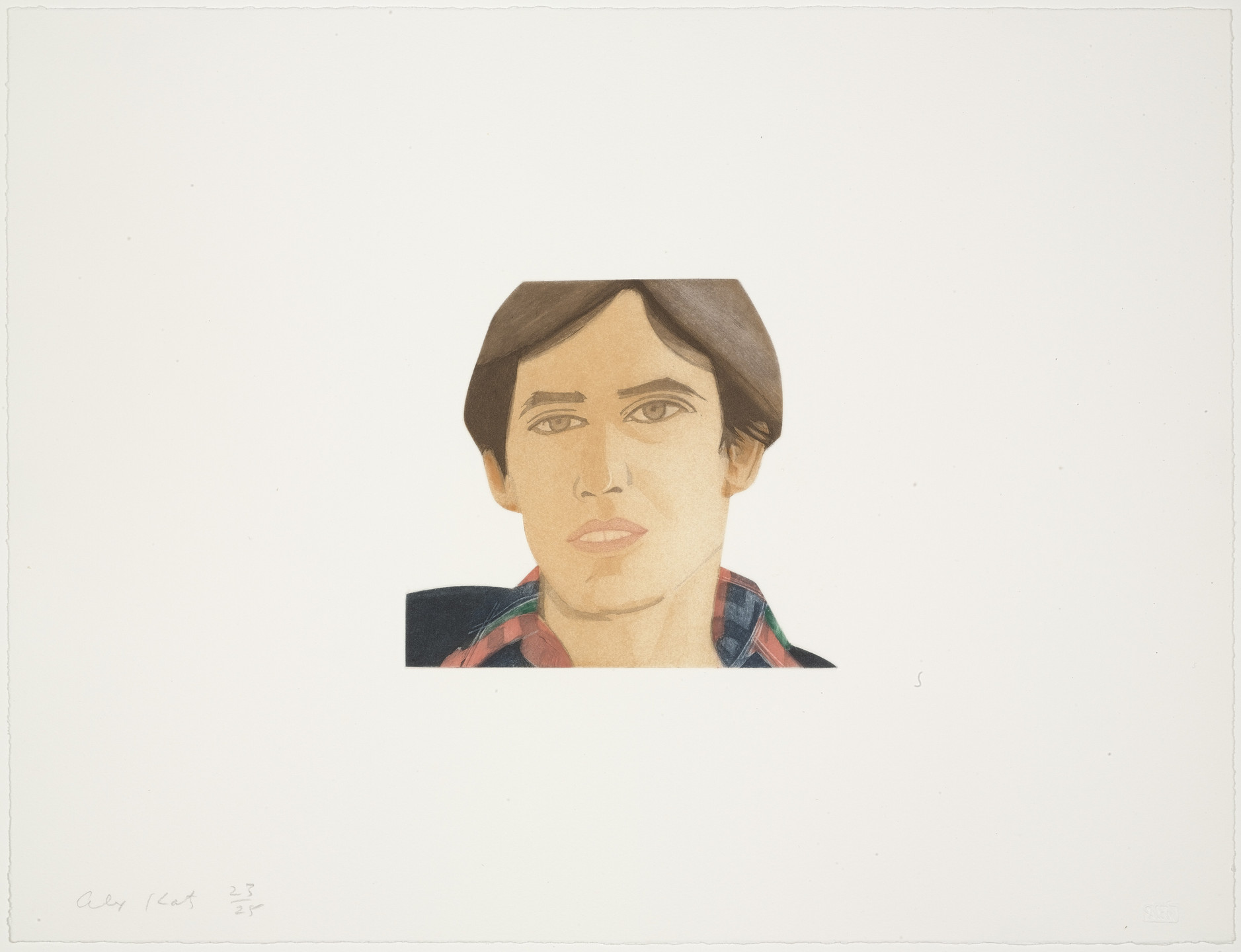 Alex Katz. Michael Lally from Face of the Poet. 1978