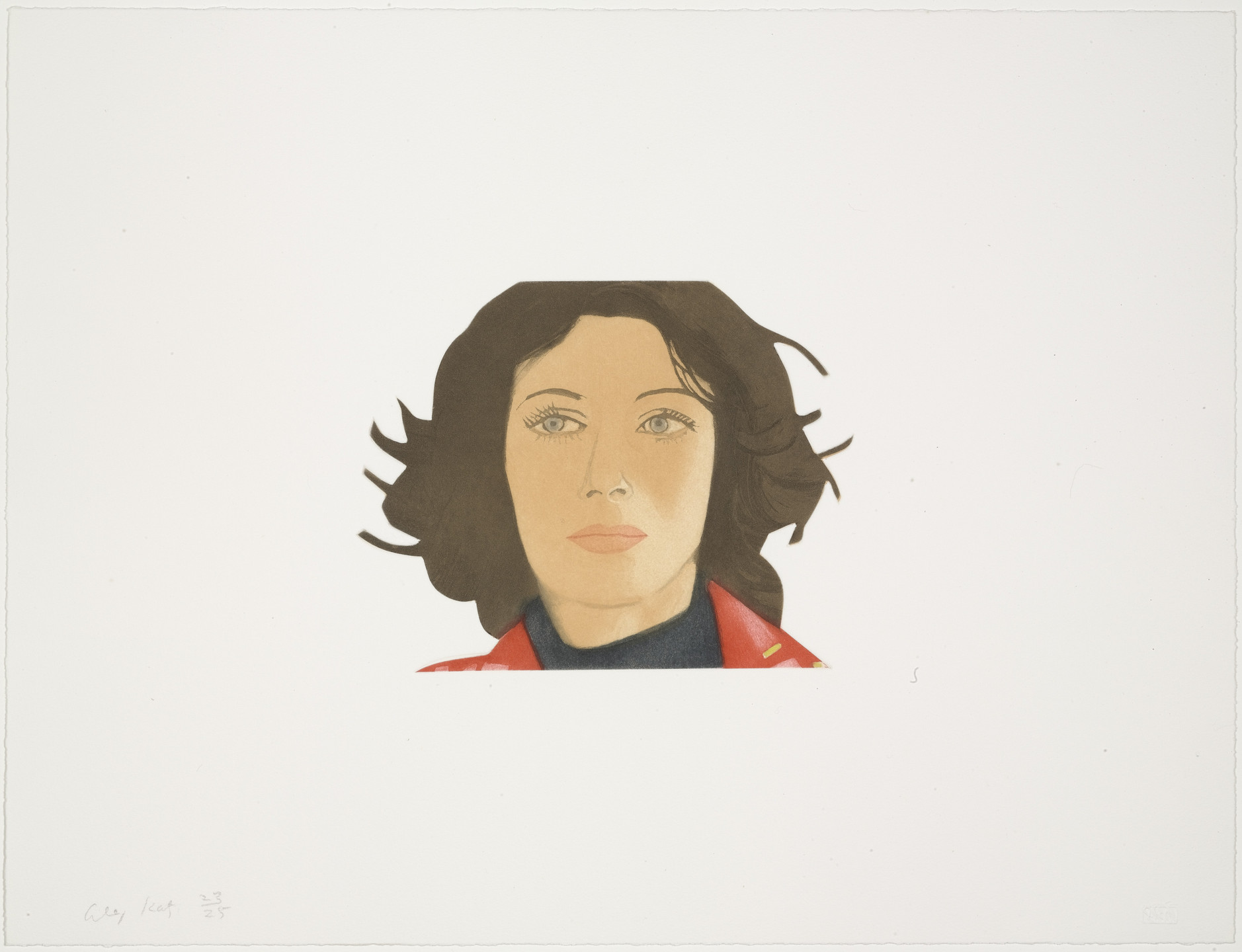 Alex Katz. Ann Lauterbach from Face of the Poet. 1978