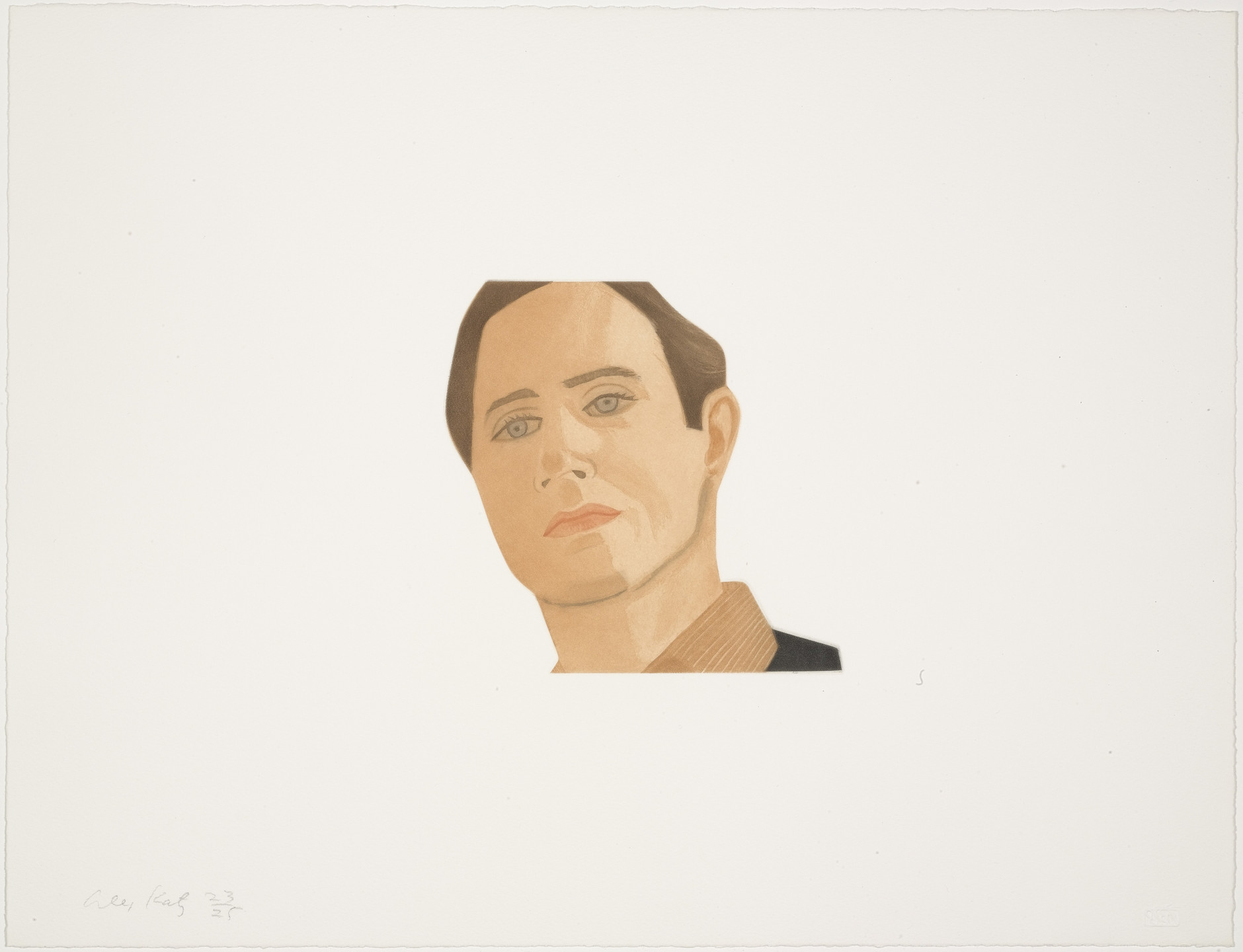 Alex Katz. Gerald Malanga from Face of the Poet. 1978