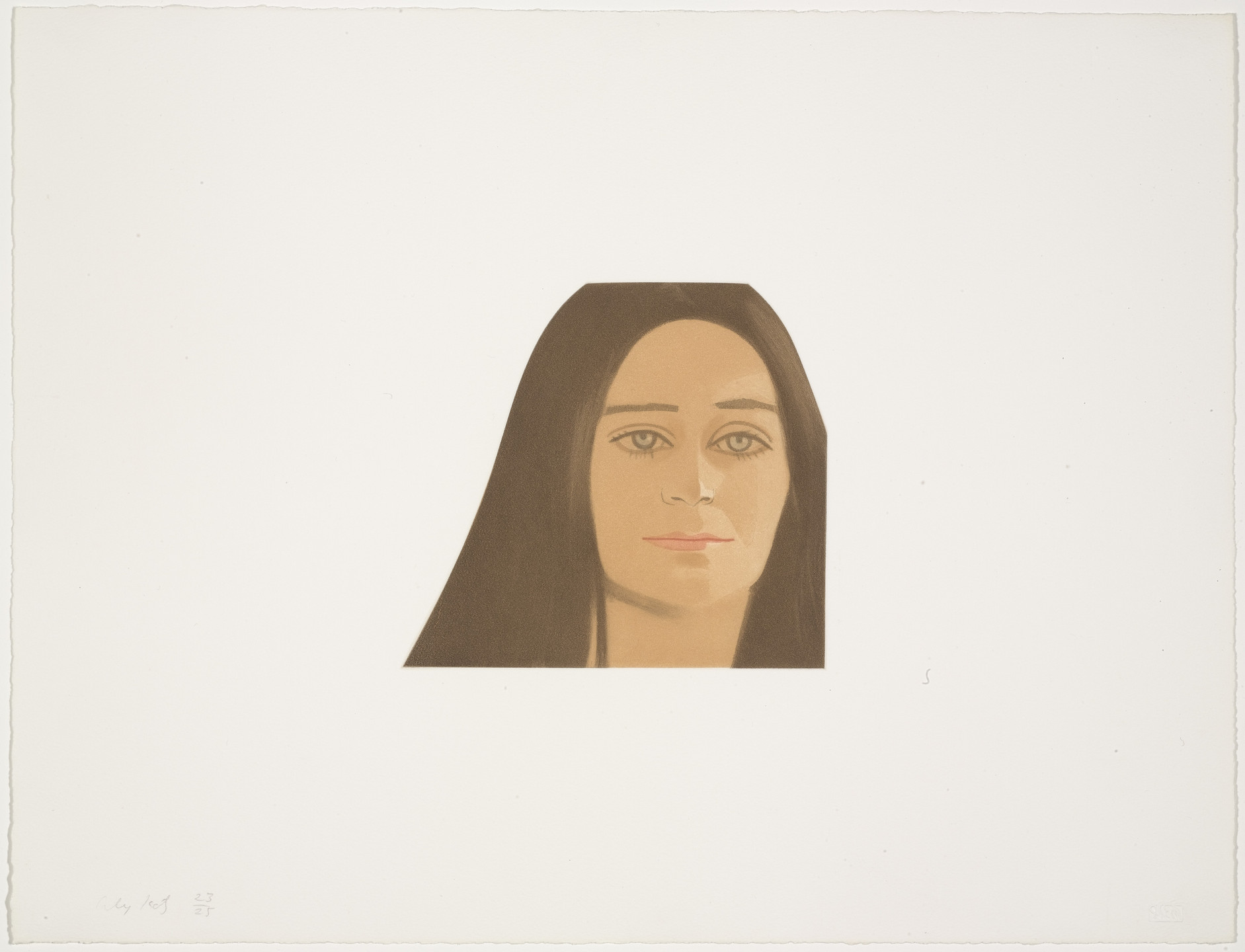 Alex Katz. Alice Notley from Face of the Poet. 1978