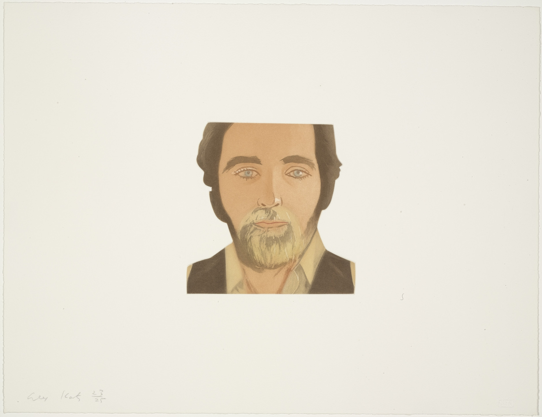 Alex Katz. John Perreault from Face of the Poet. 1978