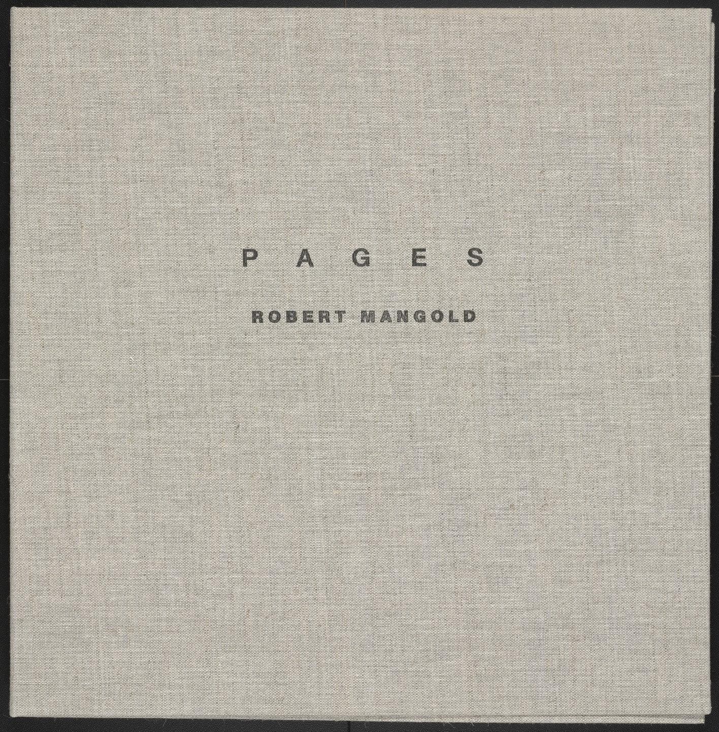 Robert Mangold. Pages. 1989