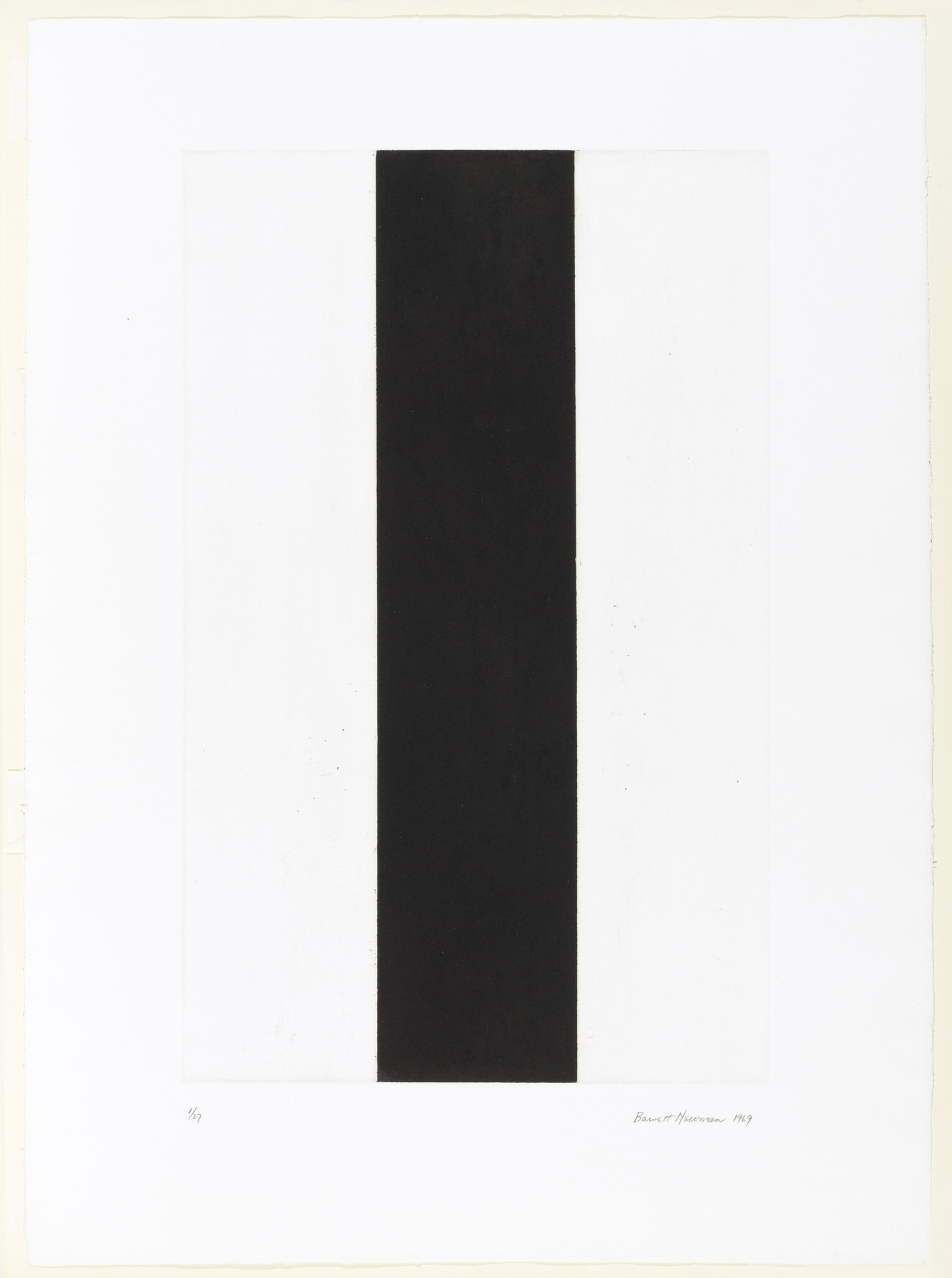 Barnett Newman. Untitled Etching #2. 1969