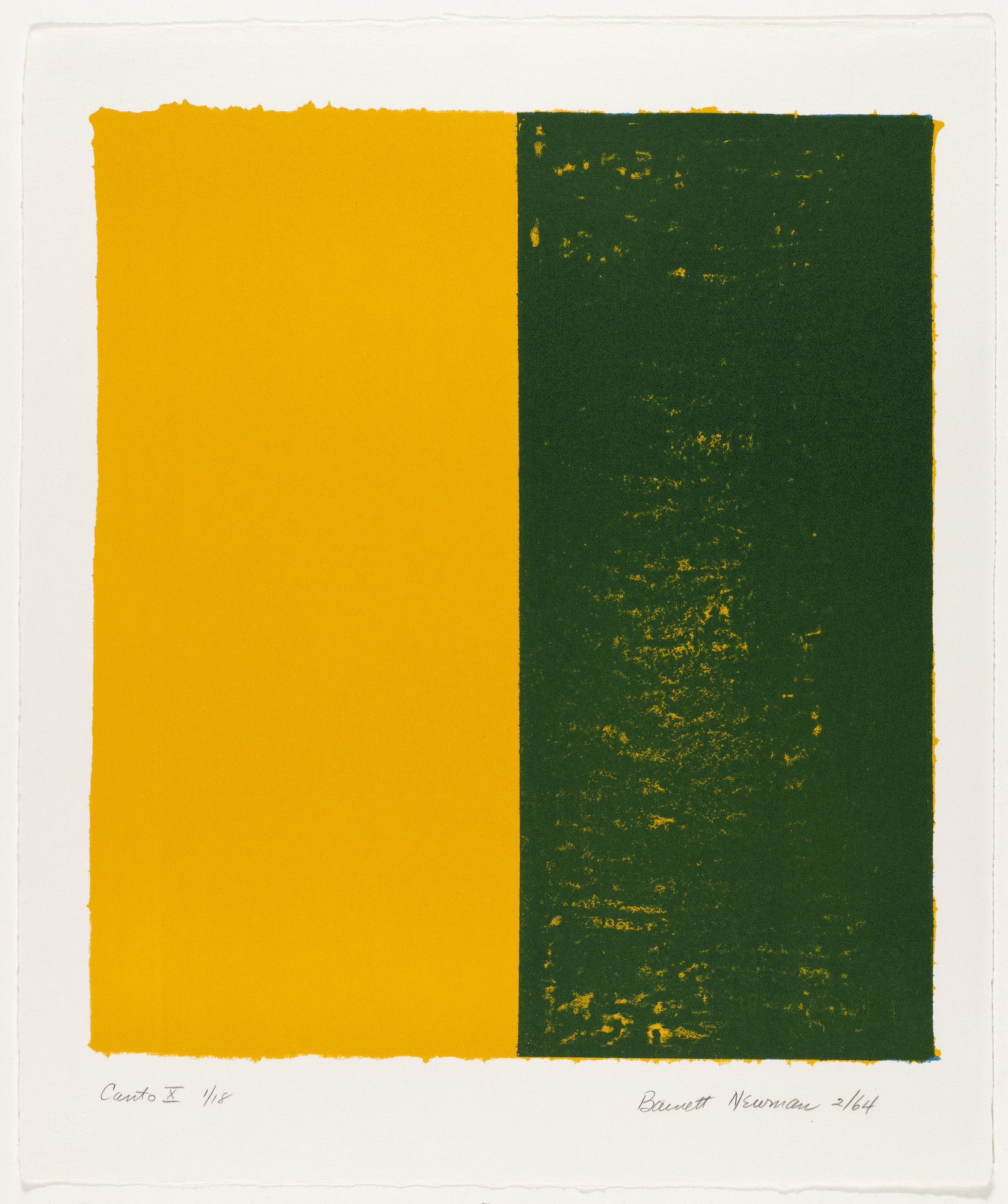 Barnett Newman. Canto X from 18 Cantos. 1964