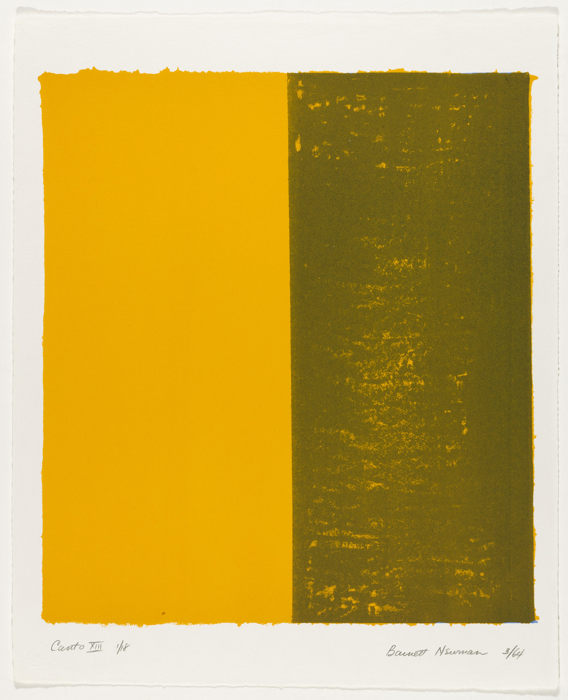 Barnett Newman. Canto XIII from 18 Cantos. 1964