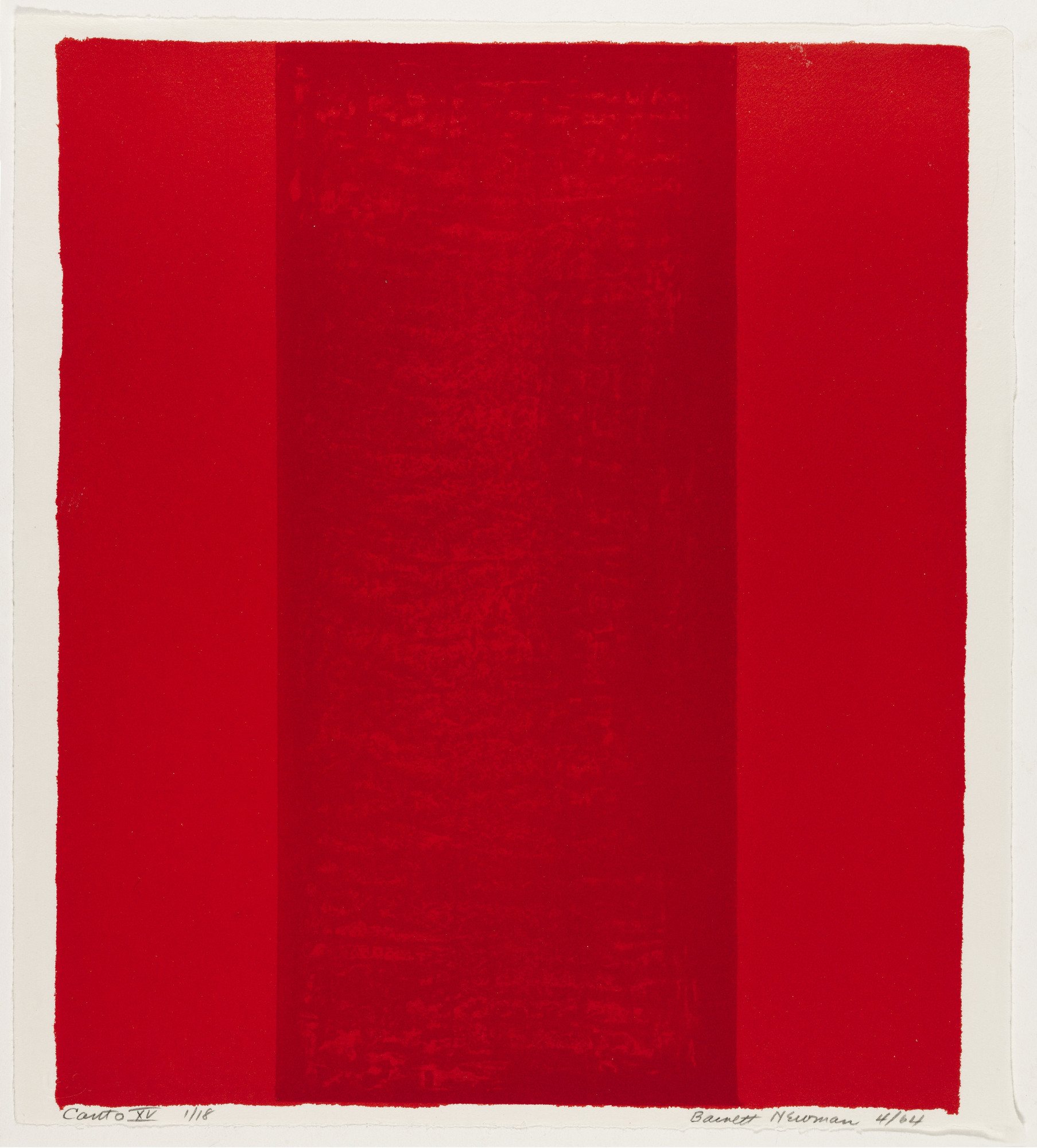 Barnett Newman. Canto XV from 18 Cantos. 1964