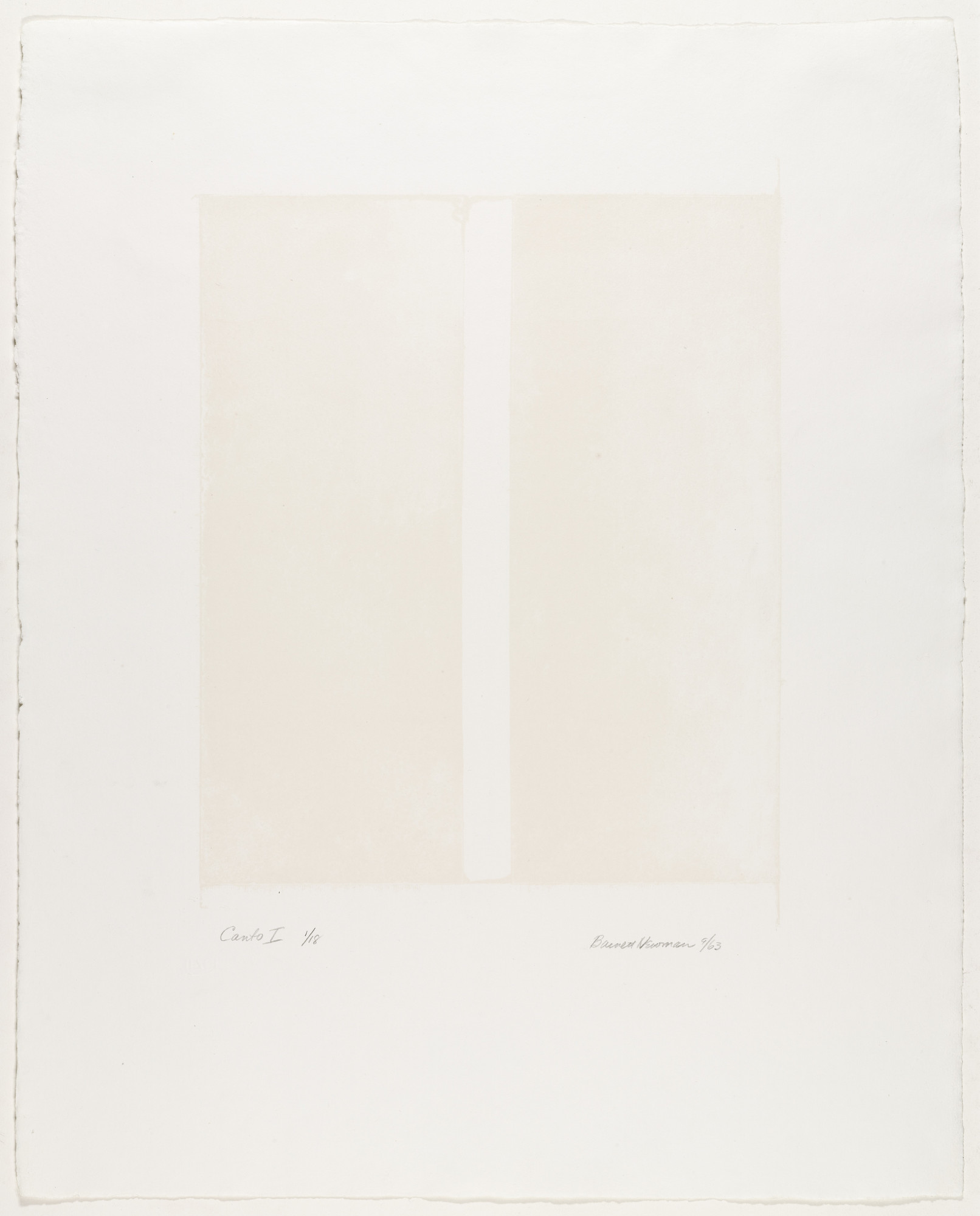 Barnett Newman. Canto I _ from _18 Cantos. 1963