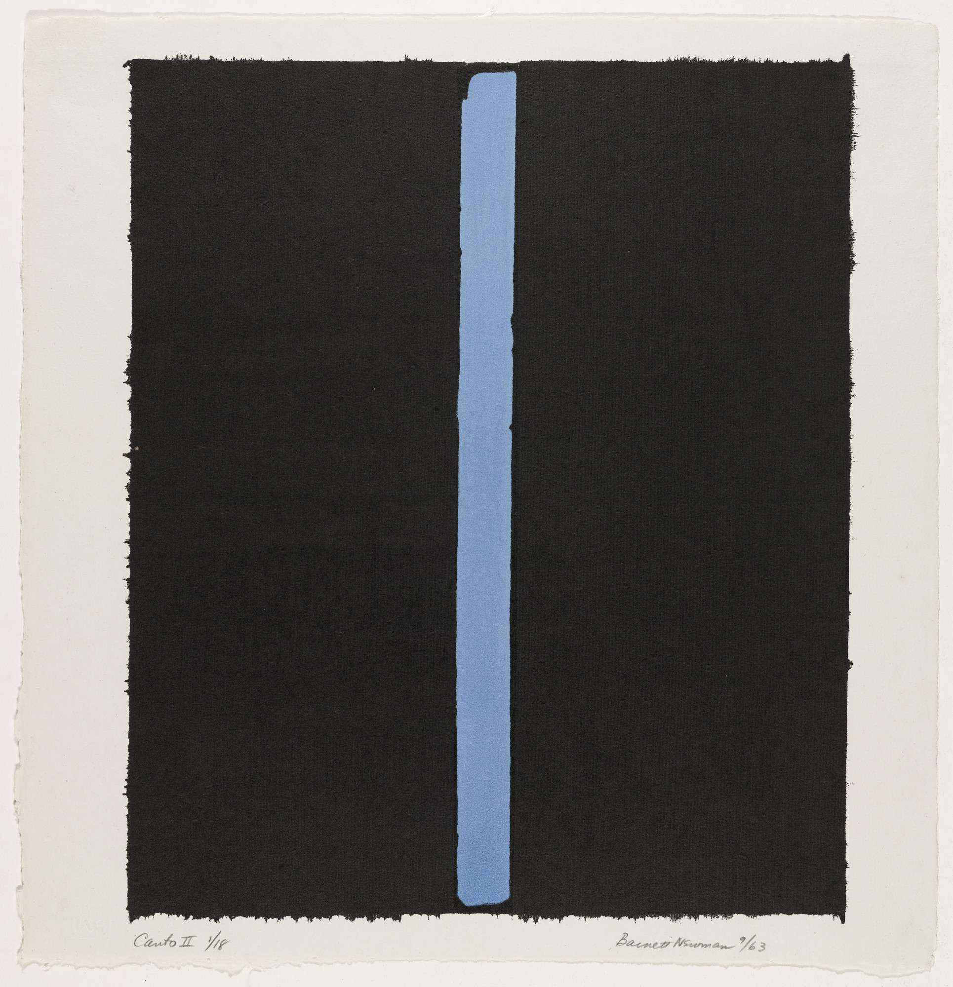 Barnett Newman. Canto II from 18 Cantos. 1964