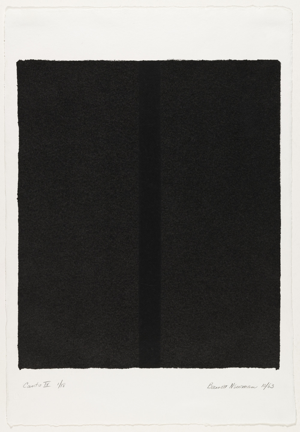 Barnett Newman. Canto IV from 18 Cantos. 1963