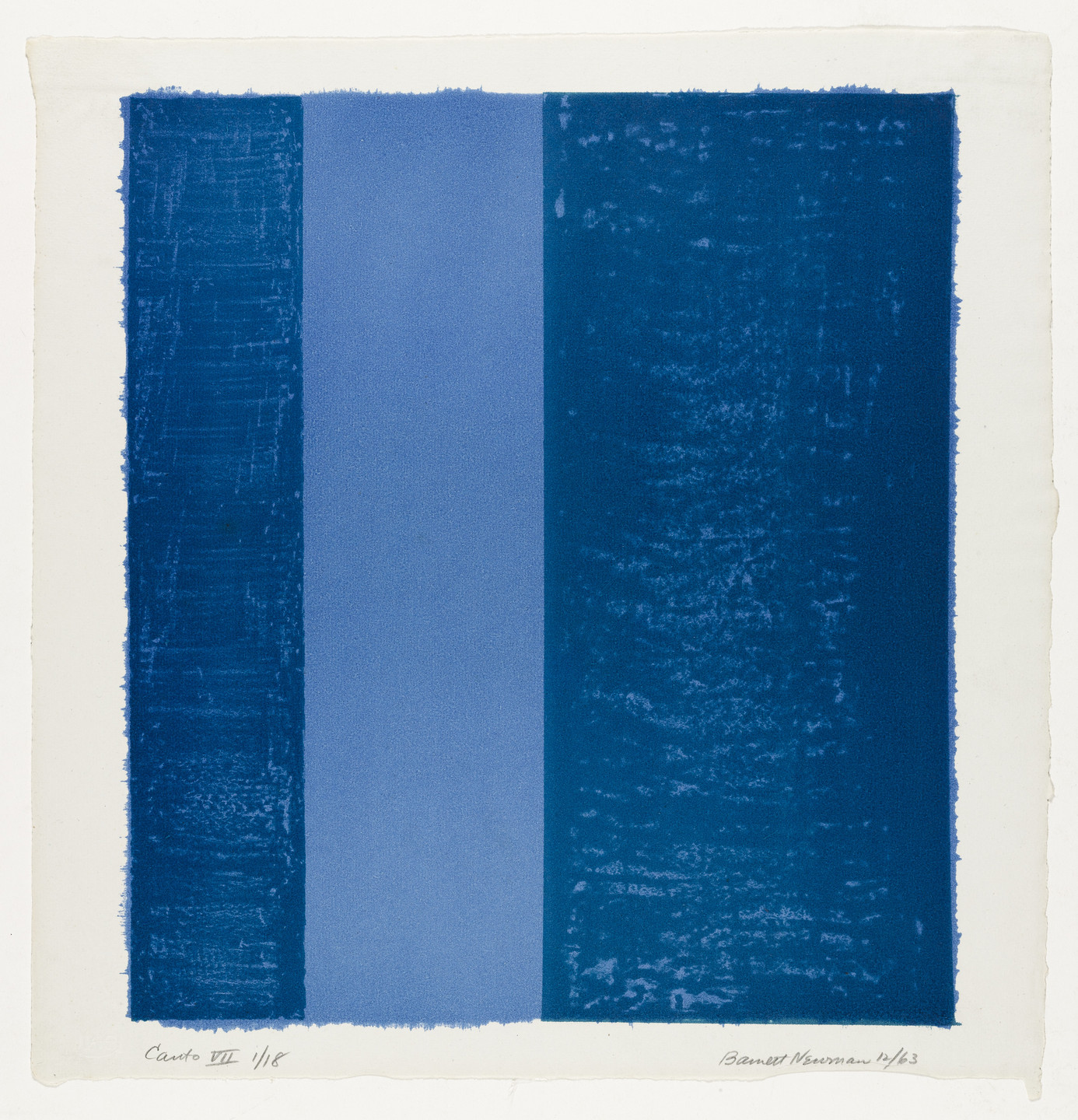 Barnett Newman. Canto VII from 18 Cantos. 1963