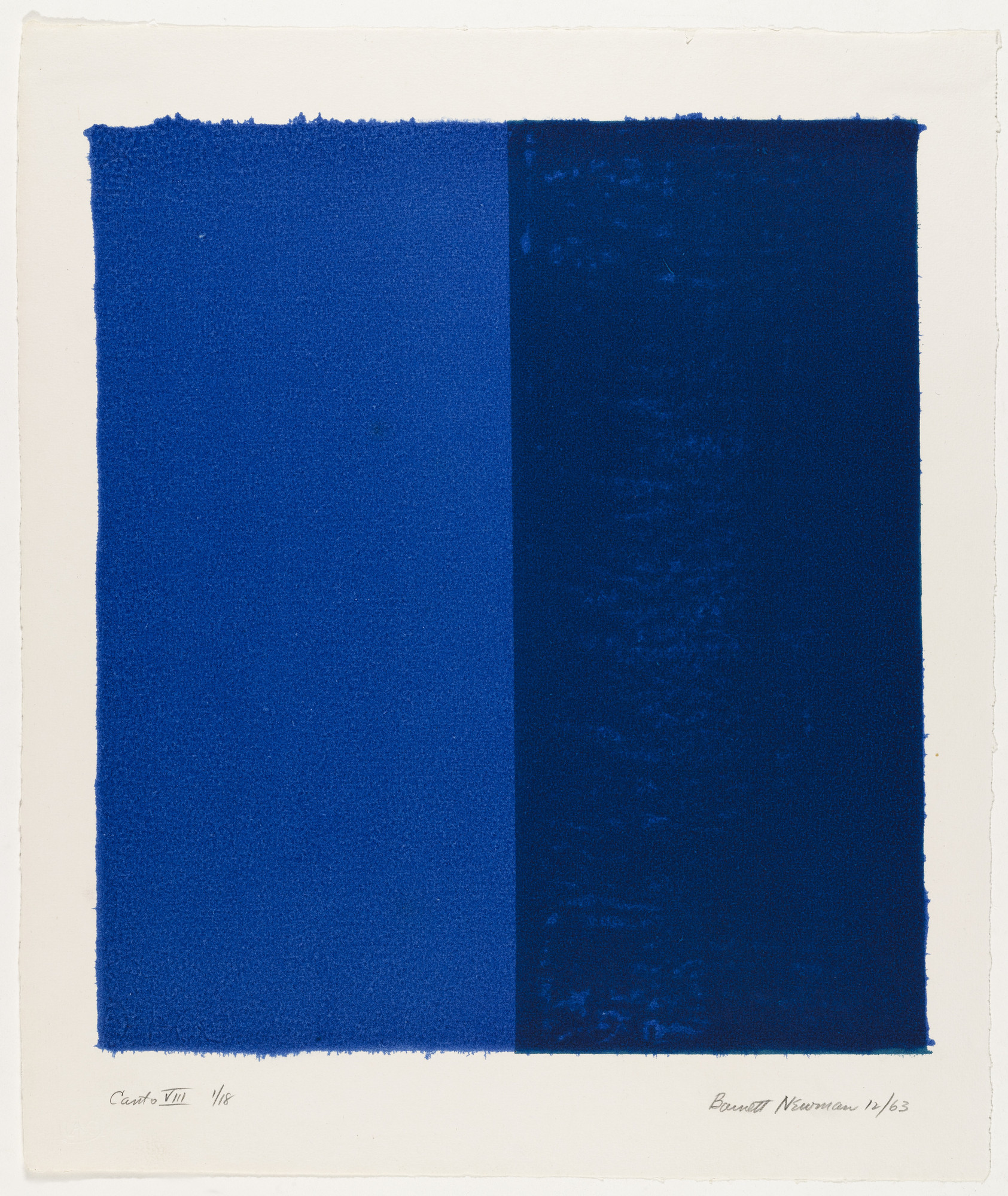 Barnett Newman. Canto VIII from 18 Cantos. 1963