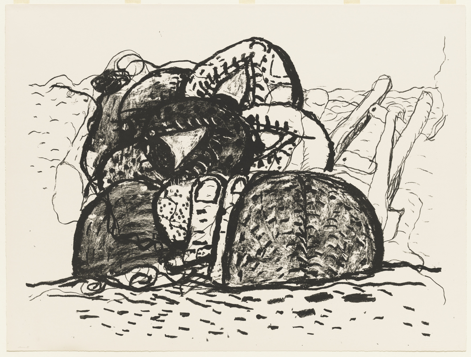 Philip Guston. Gulf. 1979, printed 1981, published 1983