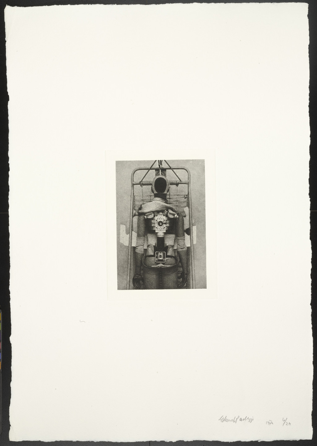 Eduardo Paolozzi. Untitled (Broken Open Dummy Skeleton) from The Conditional Probability Machine. 1970