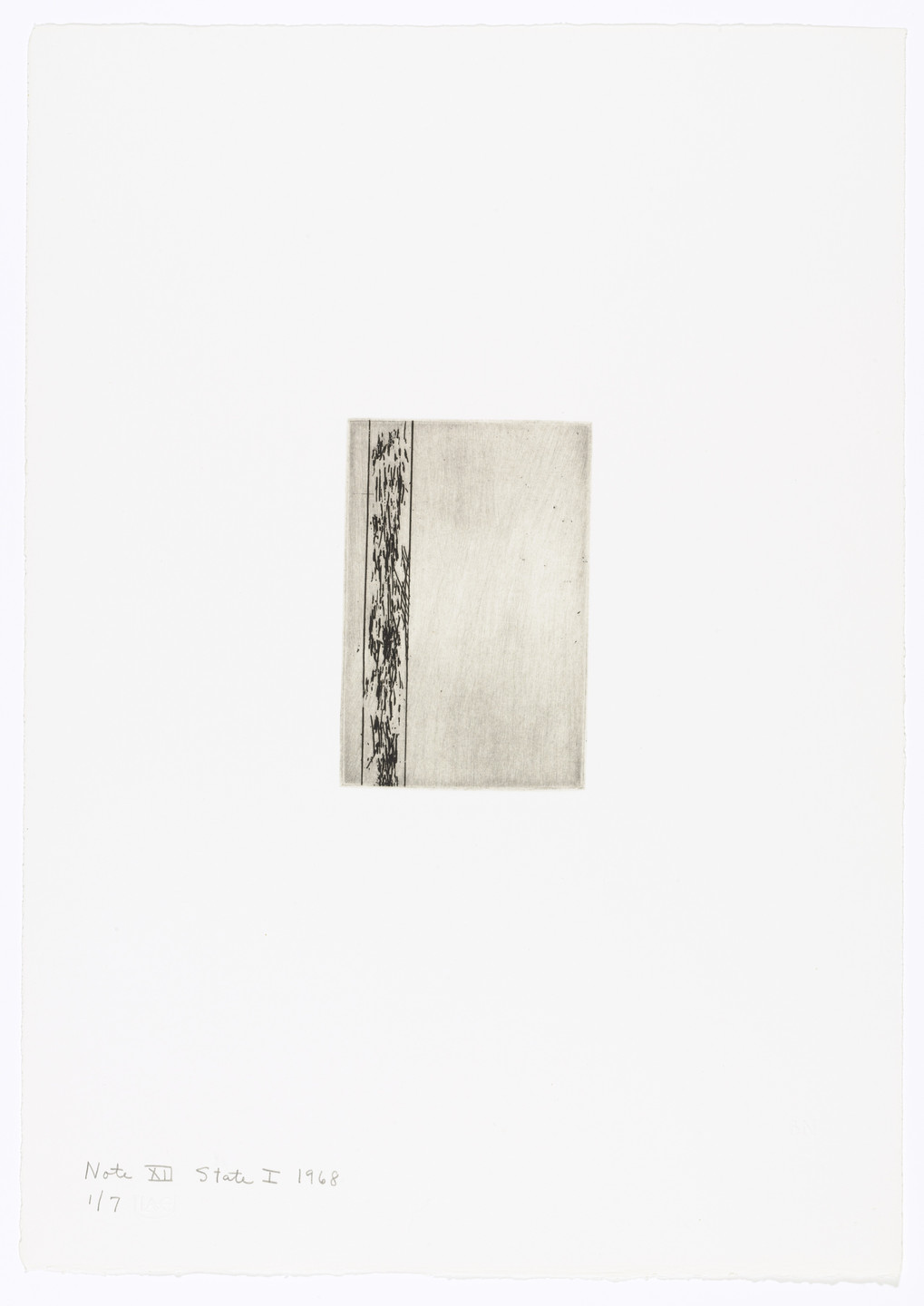 Barnett Newman. Note XII (State I) from Notes. 1968