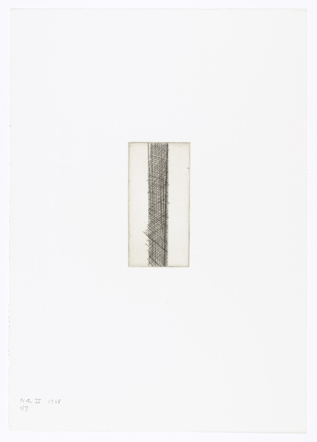 Barnett Newman. Note II from Notes. 1968