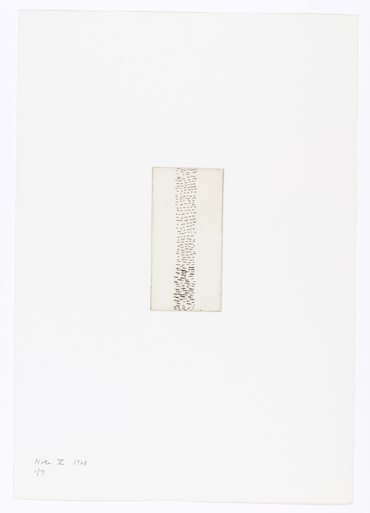 Barnett Newman. Note V from Notes. 1968
