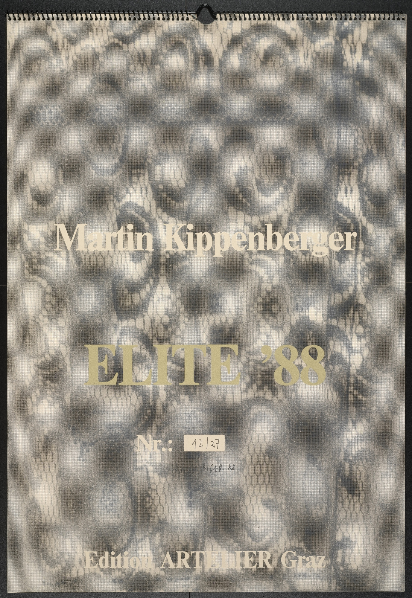 Martin Kippenberger. Title page from Elite '88. 1988