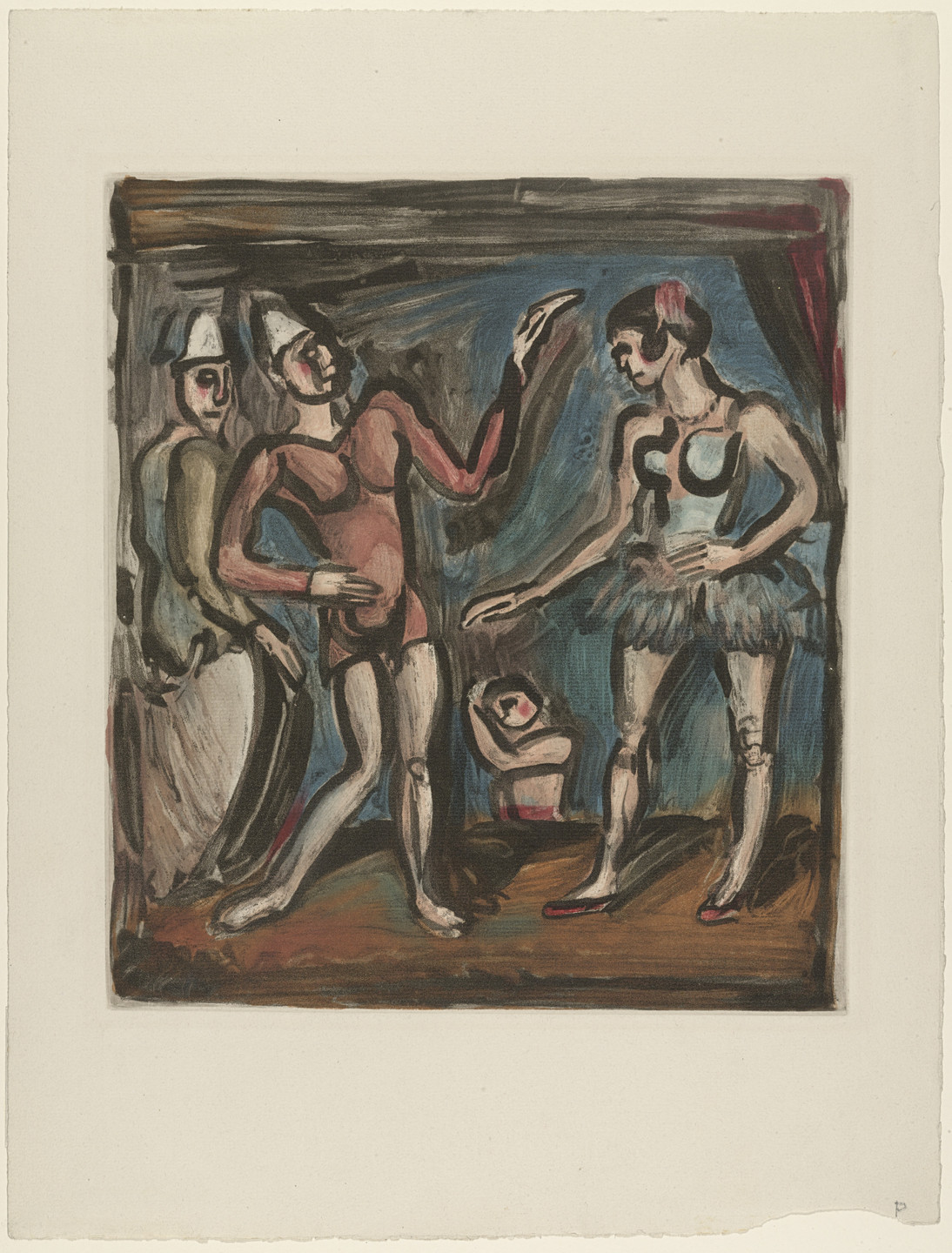 Georges Rouault. The Side Show from Cirque. 1930
