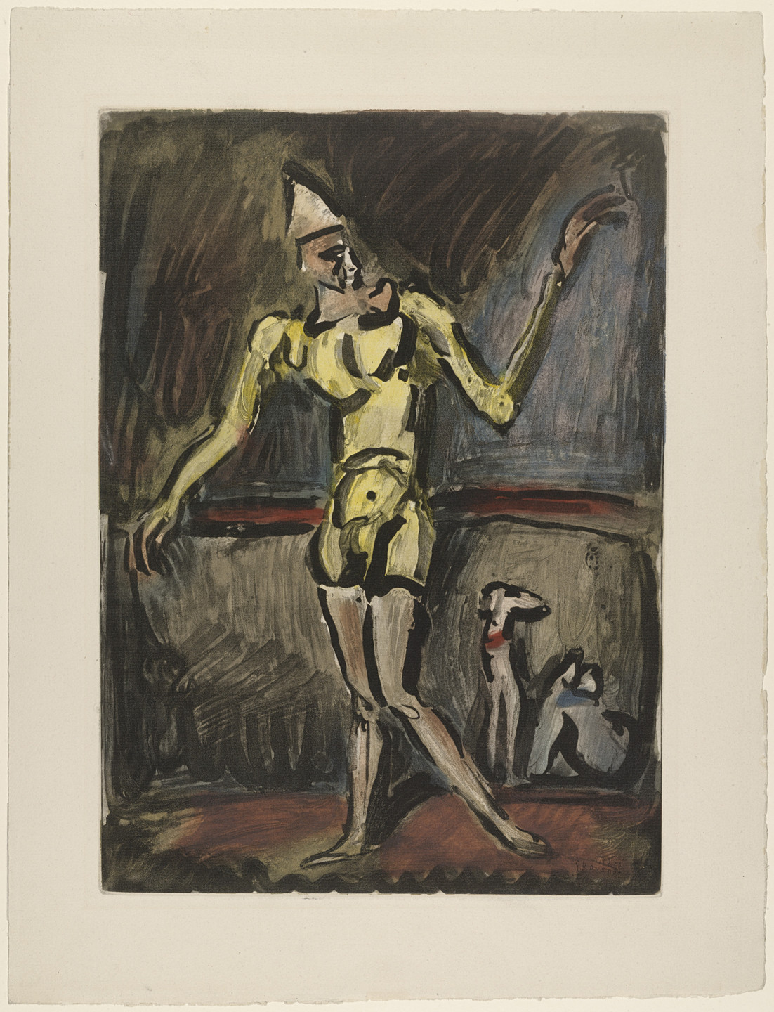 Georges Rouault. The Yellow Clown from Cirque. 1930