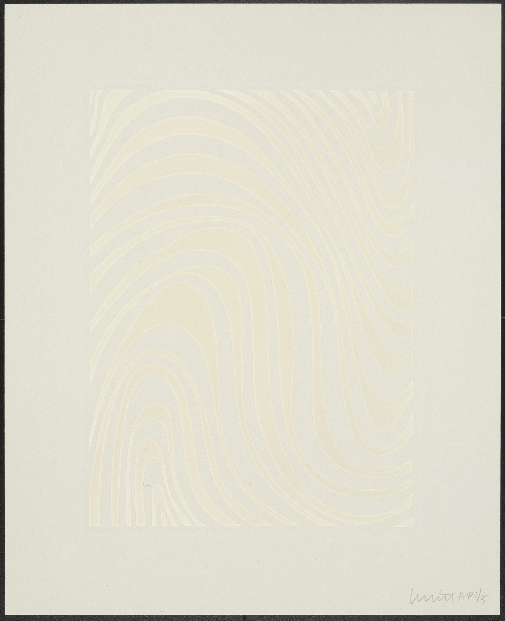 Sol LeWitt. Untitled from Irregular Bands. 1995