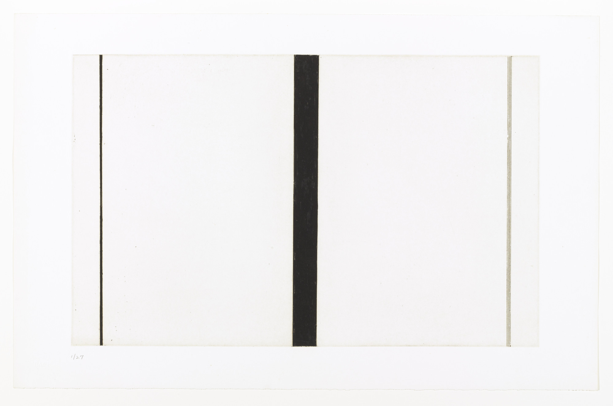 Barnett Newman. Untitled Etching #1 (First Version). 1969, published 1976