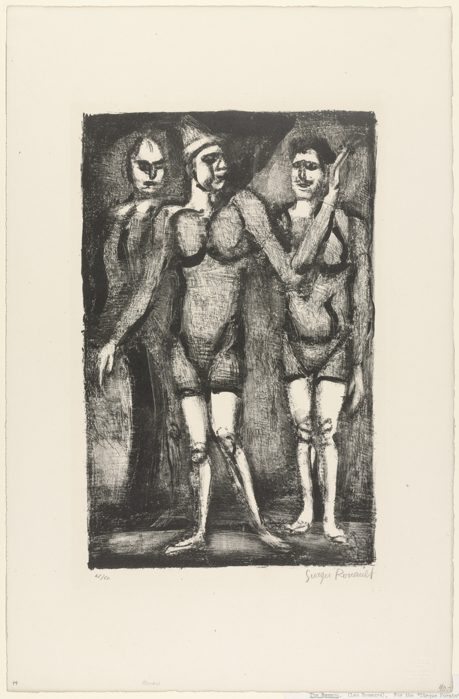 Georges Rouault. The Boxers. Wandering Circus (Les Boxeurs. Cirque forain). c. 1924-26