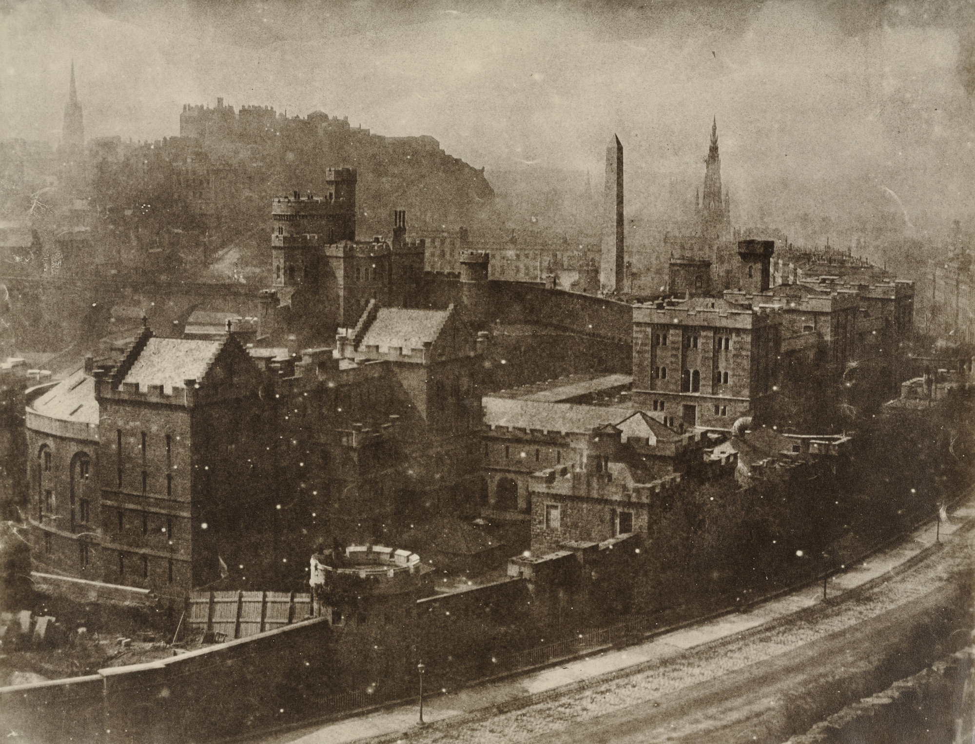 David Octavius Hill, Robert Adamson. Edinburgh from Calton Hill. 1843