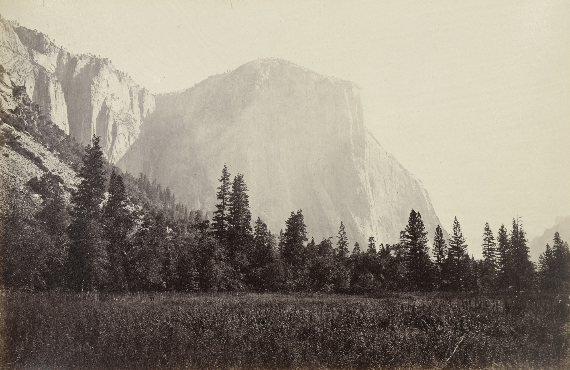 Carleton E. Watkins. El Capitan (3600 Feet) from the Foot of the Mariposa Trail. c. 1867
