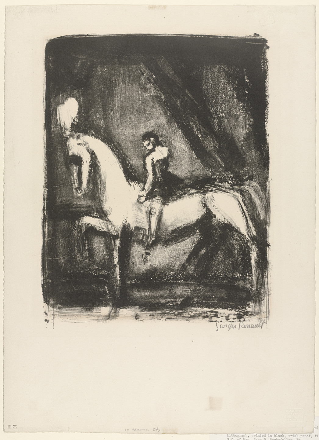 Georges Rouault. The Little Circus Rider (La Petite ecuyère). c. 1924-27
