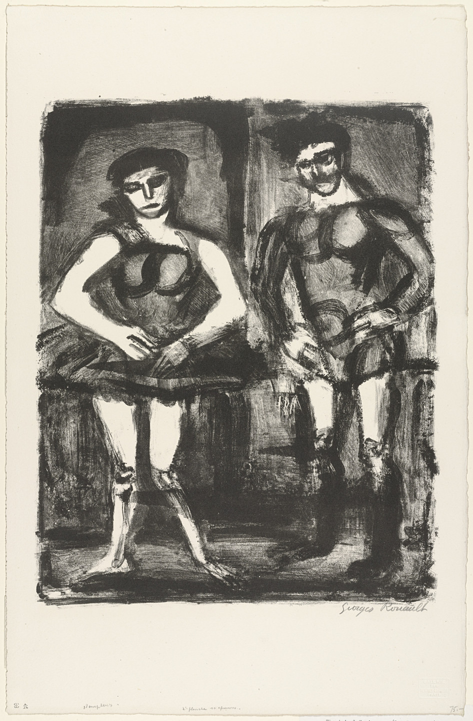 Georges Rouault. The Animal Trainers (Les Dompteurs), second plate. c. 1924-27