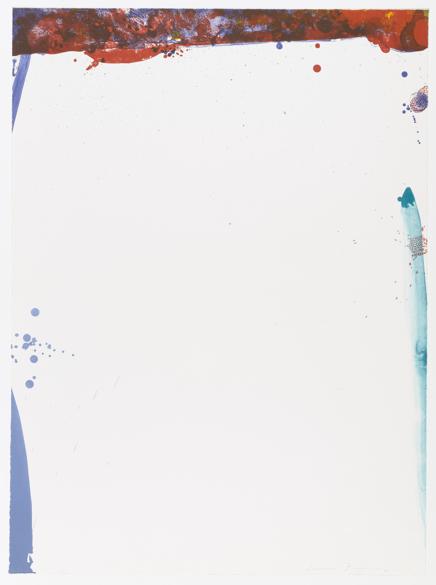 Sam Francis. Chinese Wall. 1969