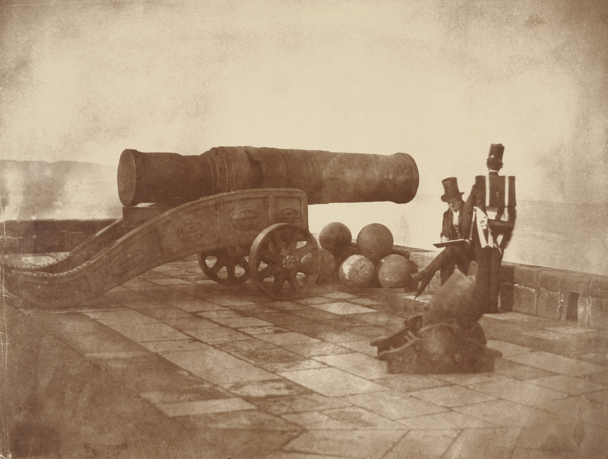 David Octavius Hill, Robert Adamson. Mons Meg, Edinburgh Castle. 1843-48