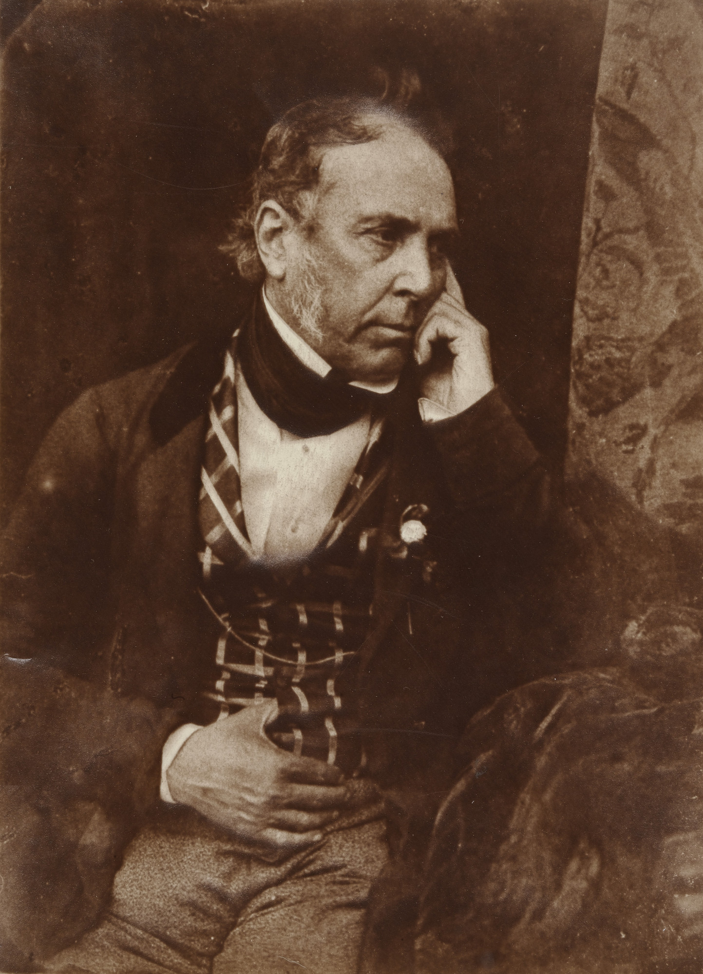 David Octavius Hill. Col. Burns, Son of the Poet. 1843-48