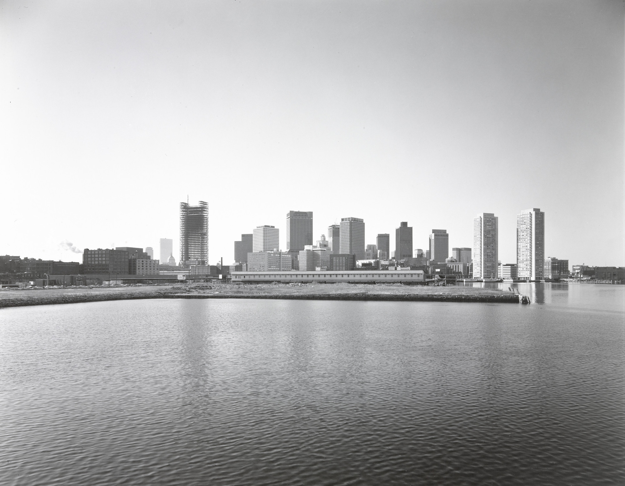 Nicholas Nixon. View of Boston from Pier 4. 1975