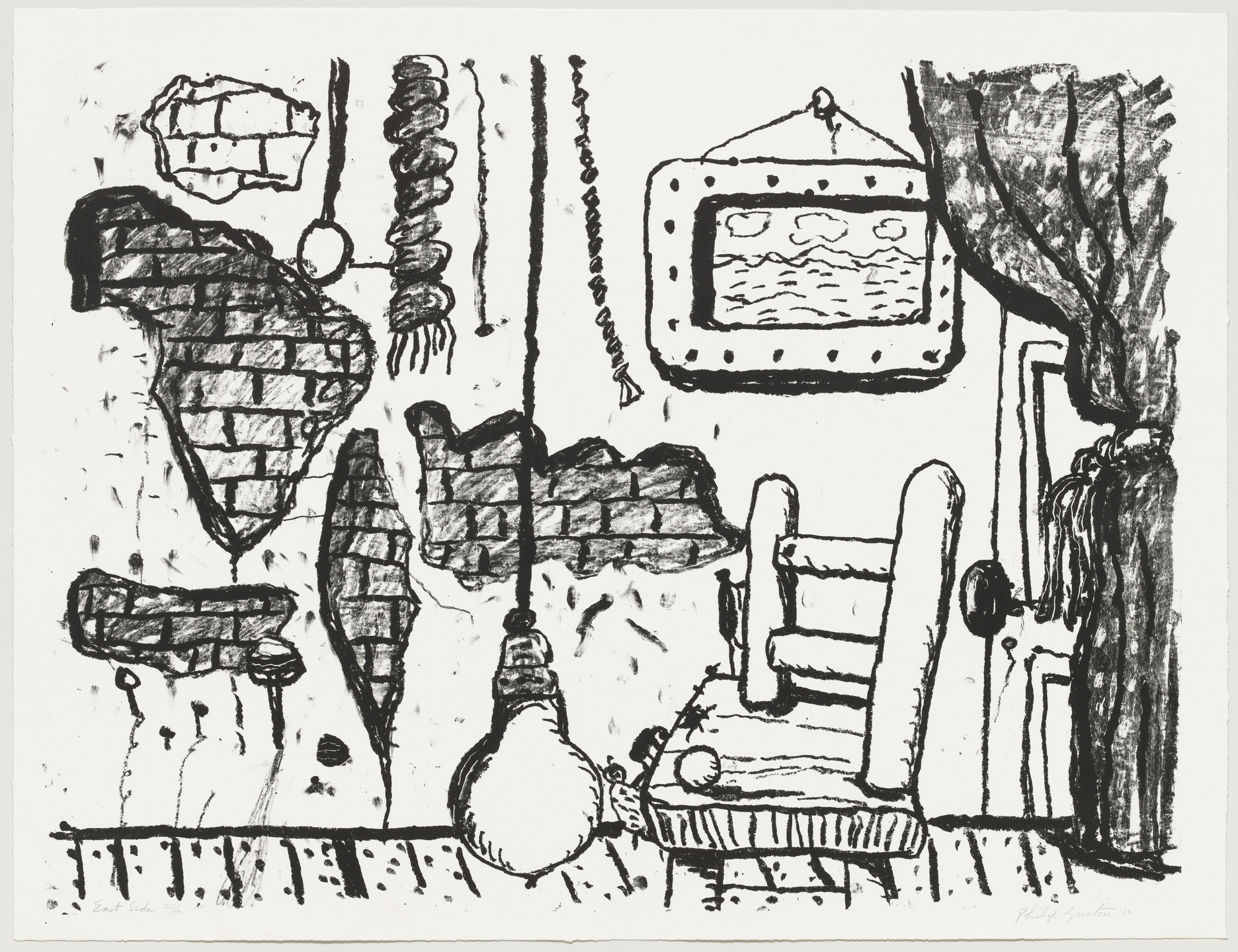 Philip Guston. East Side. 1980