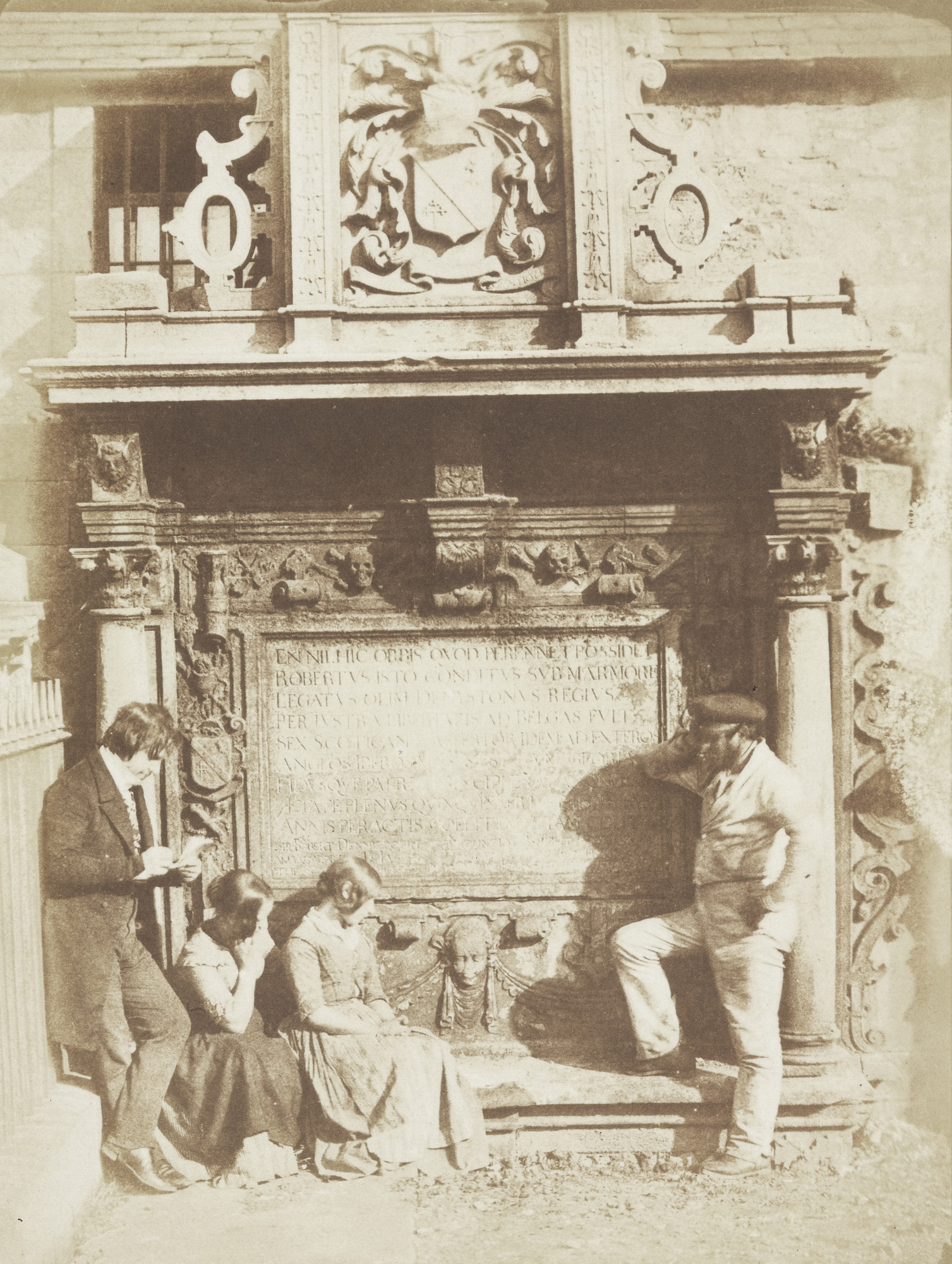 David Octavius Hill, Robert Adamson. D.O. Hill and others in Greyfriars Churchyard. c. 1841-48