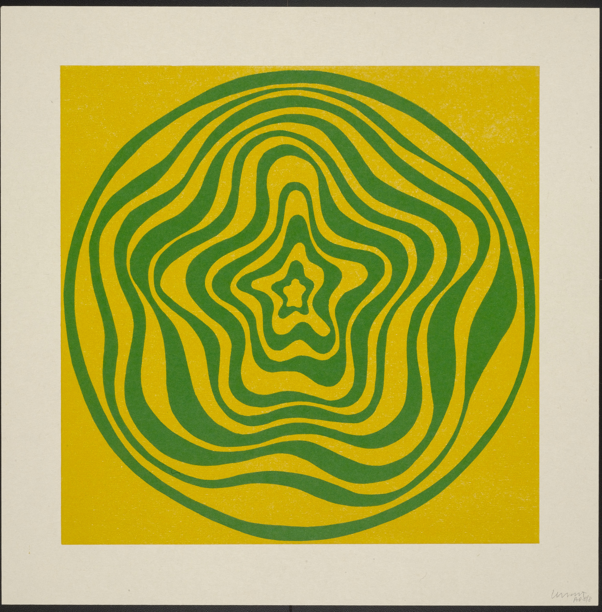 Sol LeWitt. Concentric Irregular Bands. 1997